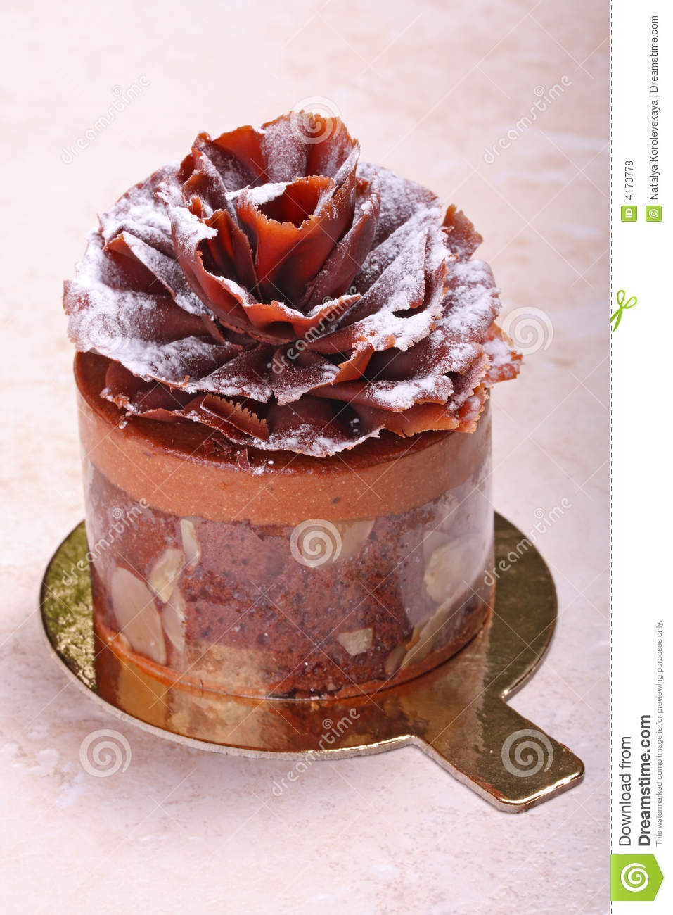 Chocolate Pastry Cake Images : Chocolate Pastry Royalty Free Stock Photos - Image: 4173778