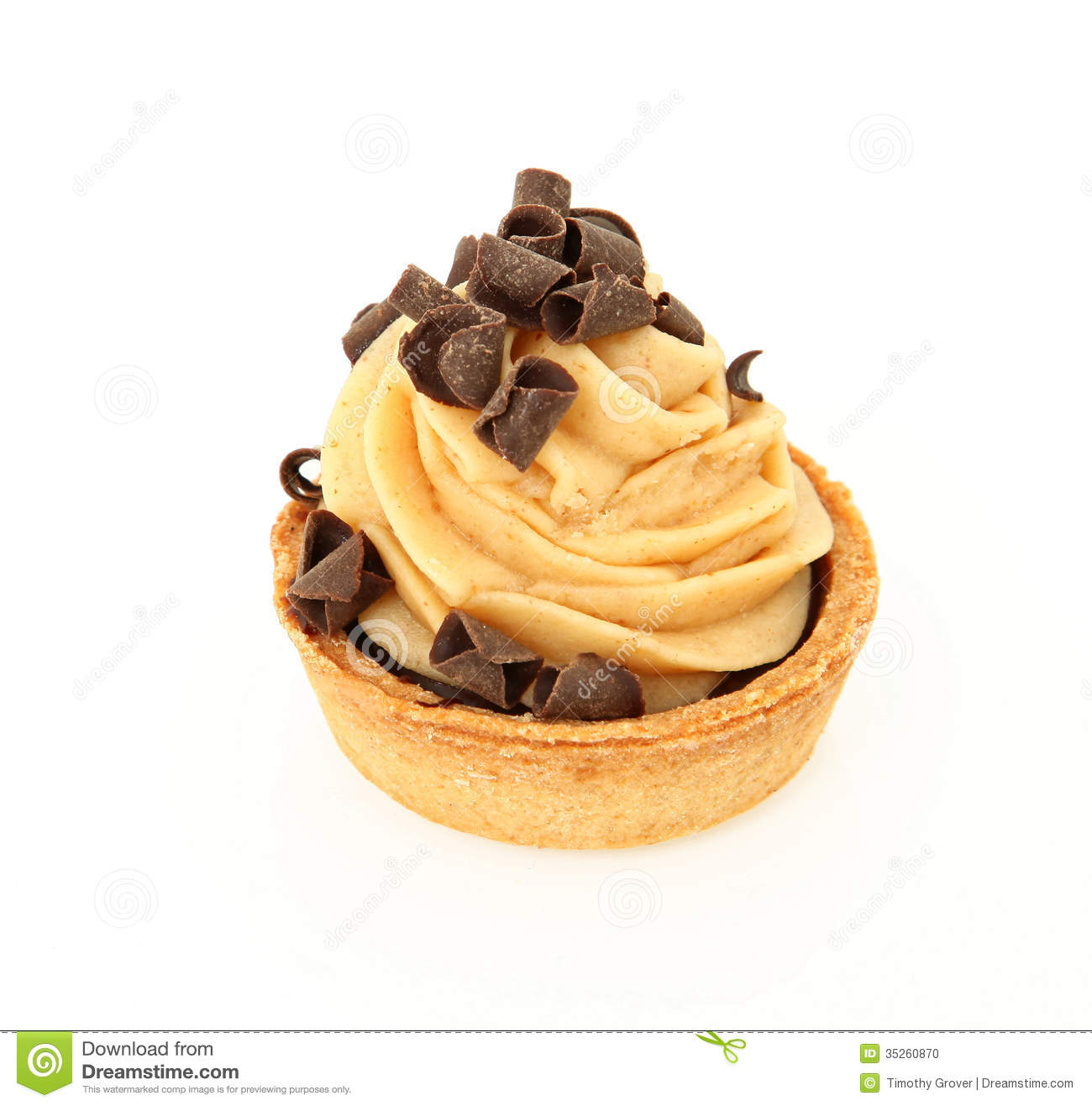Chocolate Peanut Butter Tart Stock Photo - Image: 35260870