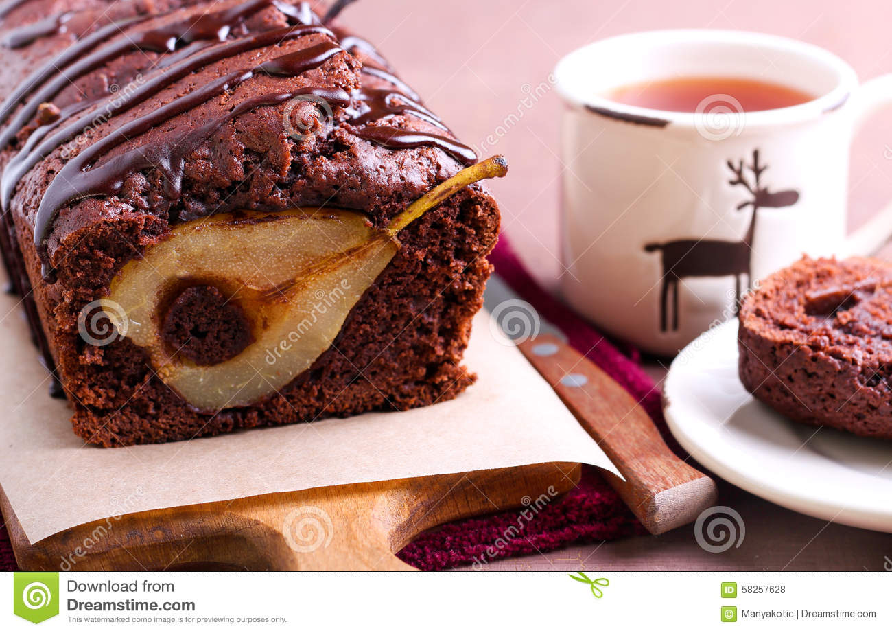 Chocolate Pear Loaf Cake Fruit Chocoholic
