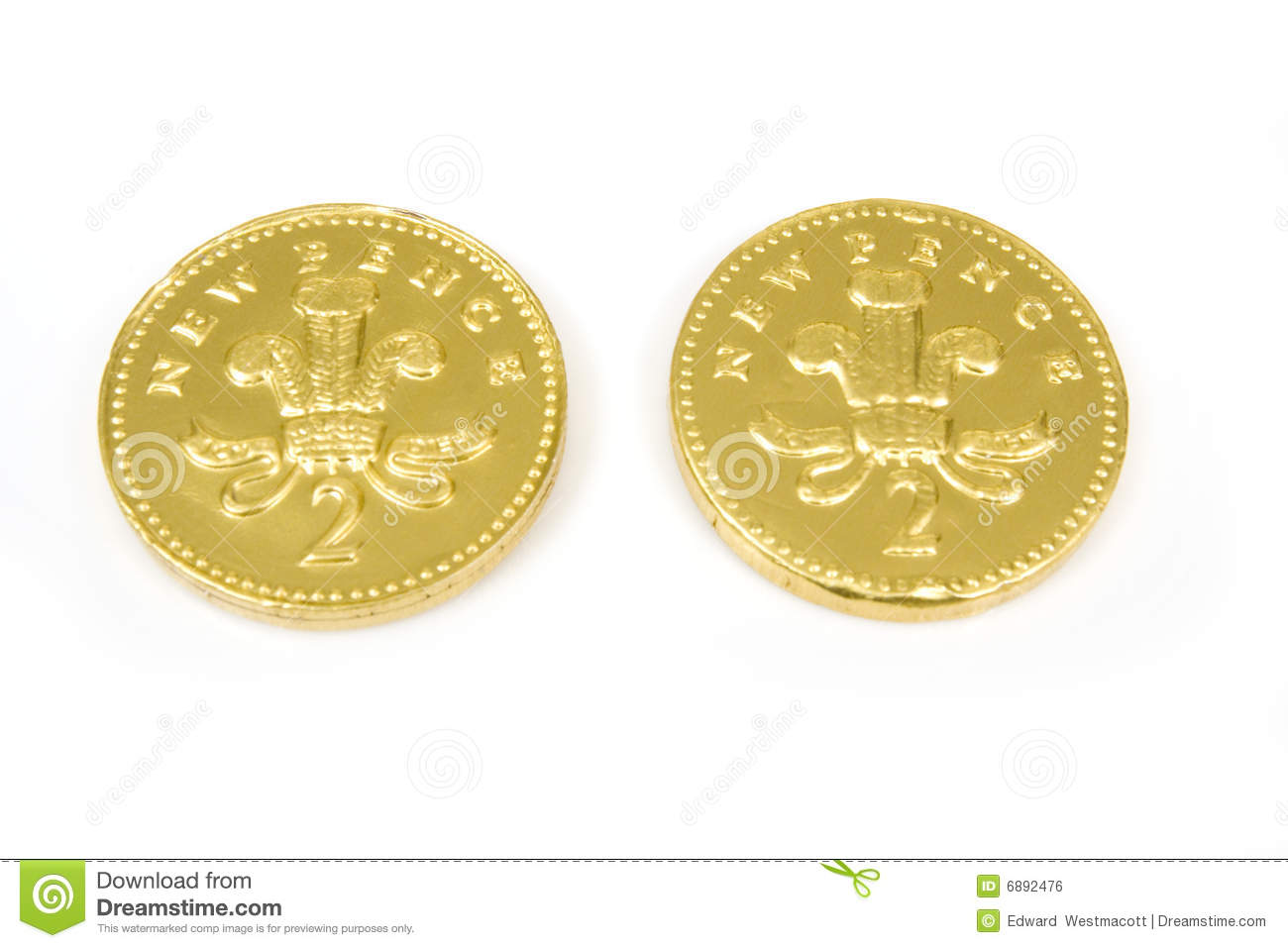 Chocolate penny coins stock photo  Image of sweets, coins