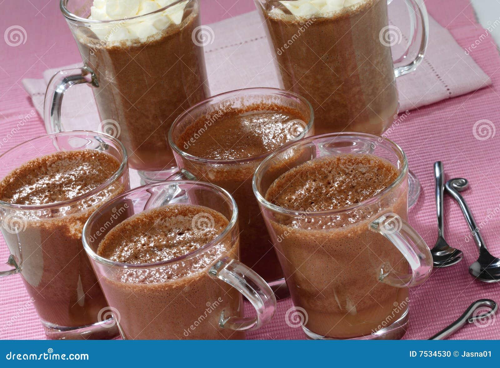 Chocolate Pudding With Cream Stock Photo - Image: 7534530