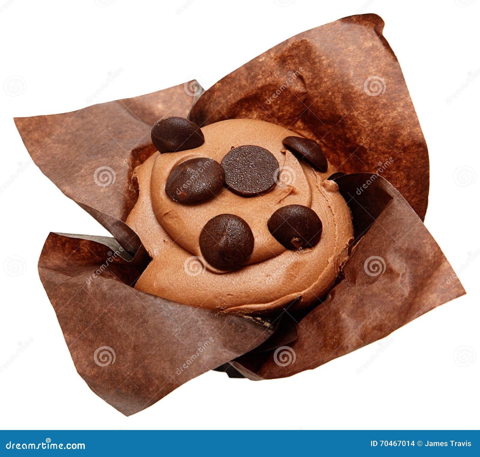 Chocolate sem glúten Chip Cupcake
