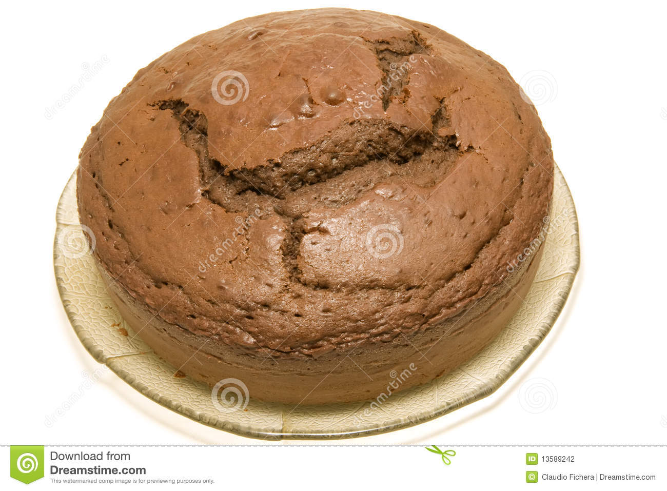 Chocolate Sponge Cake Stock Photography - Image: 13589242