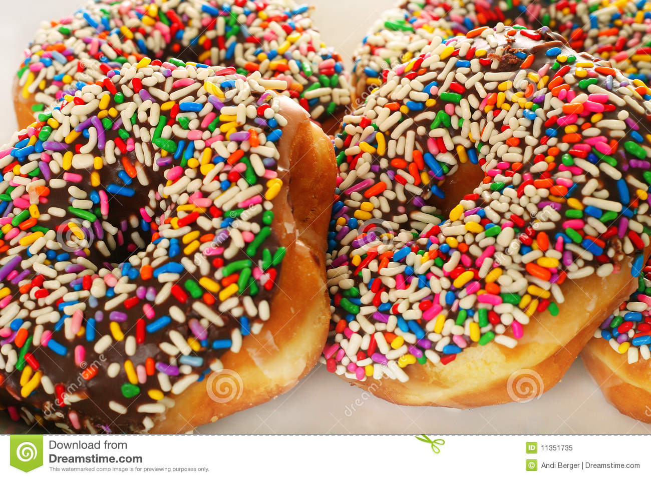 Chocolate Sprinkle Donuts Royalty Free Stock Photo - Image: 11351735