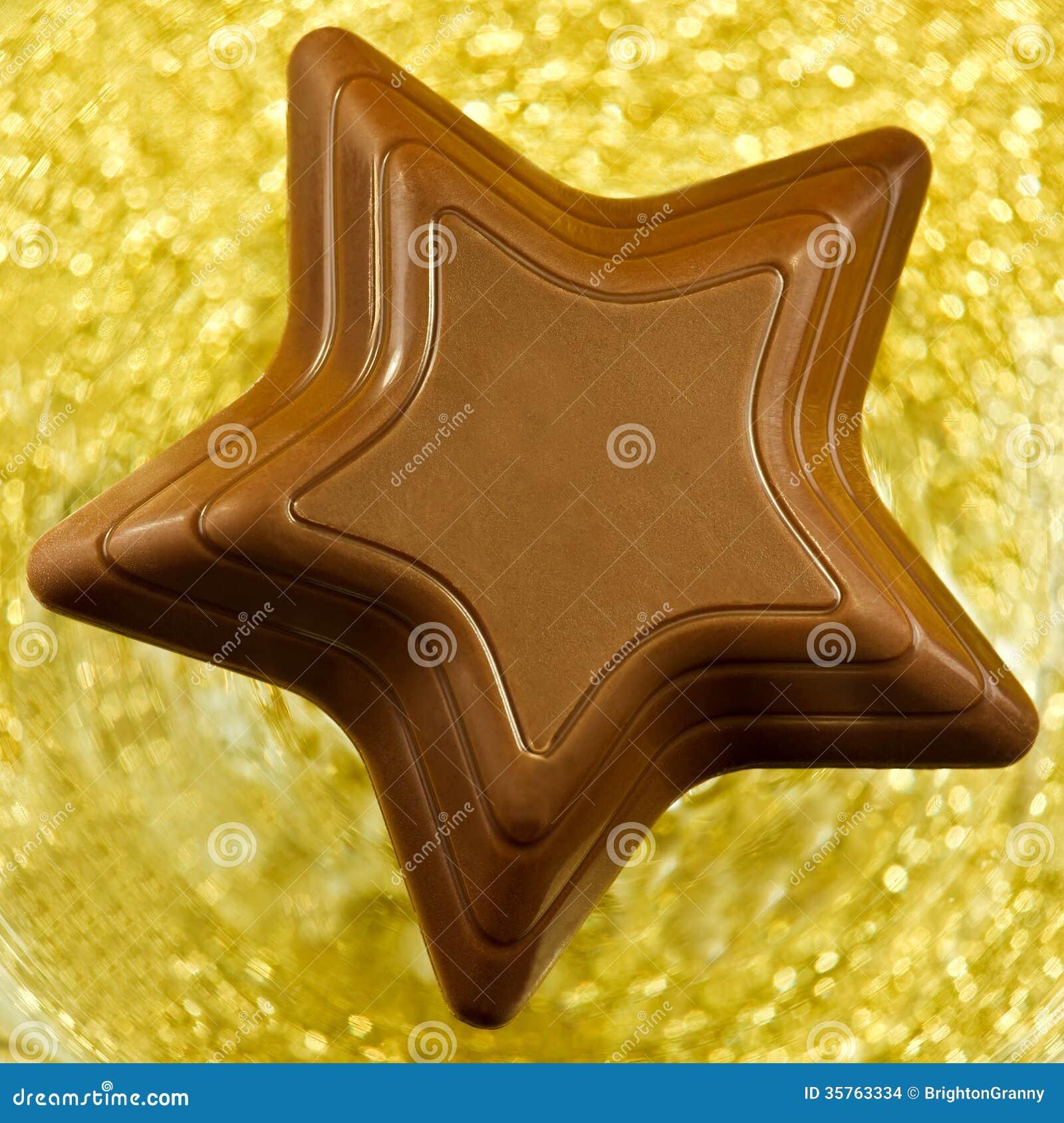 Chocolate Star Stock Photo Image Of Christmas Closeup