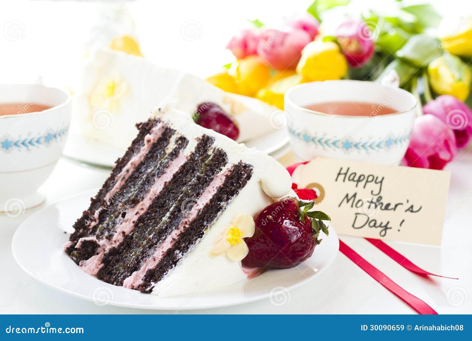 Chocolate Strawberry Lemon Torte Stock Image Image Of Garden