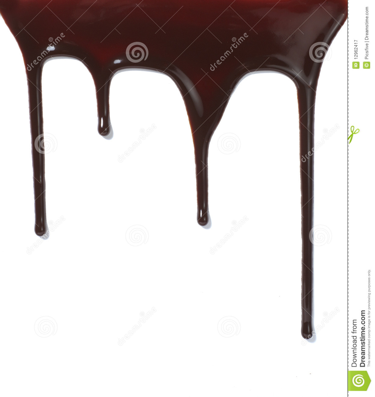 Chocolate Syrup Leaking Liquid Sweet Food Royalty Free Stock ...