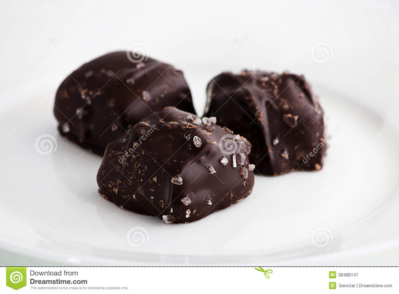 Chocolate Truffle Candies With Sea Salt Royalty Free Stock Photography ...