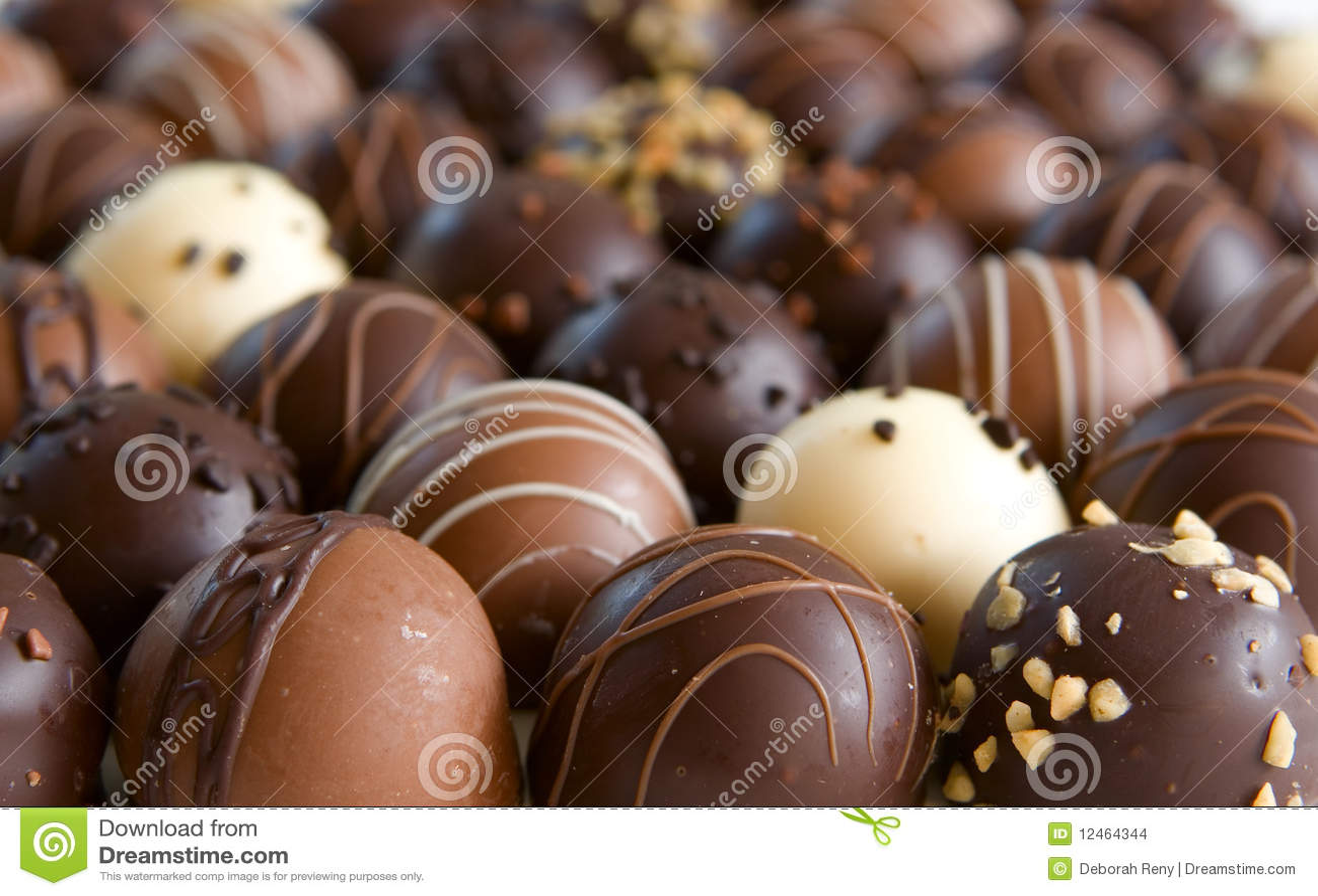 Chocolate Truffle Candy Background Stock Images Image