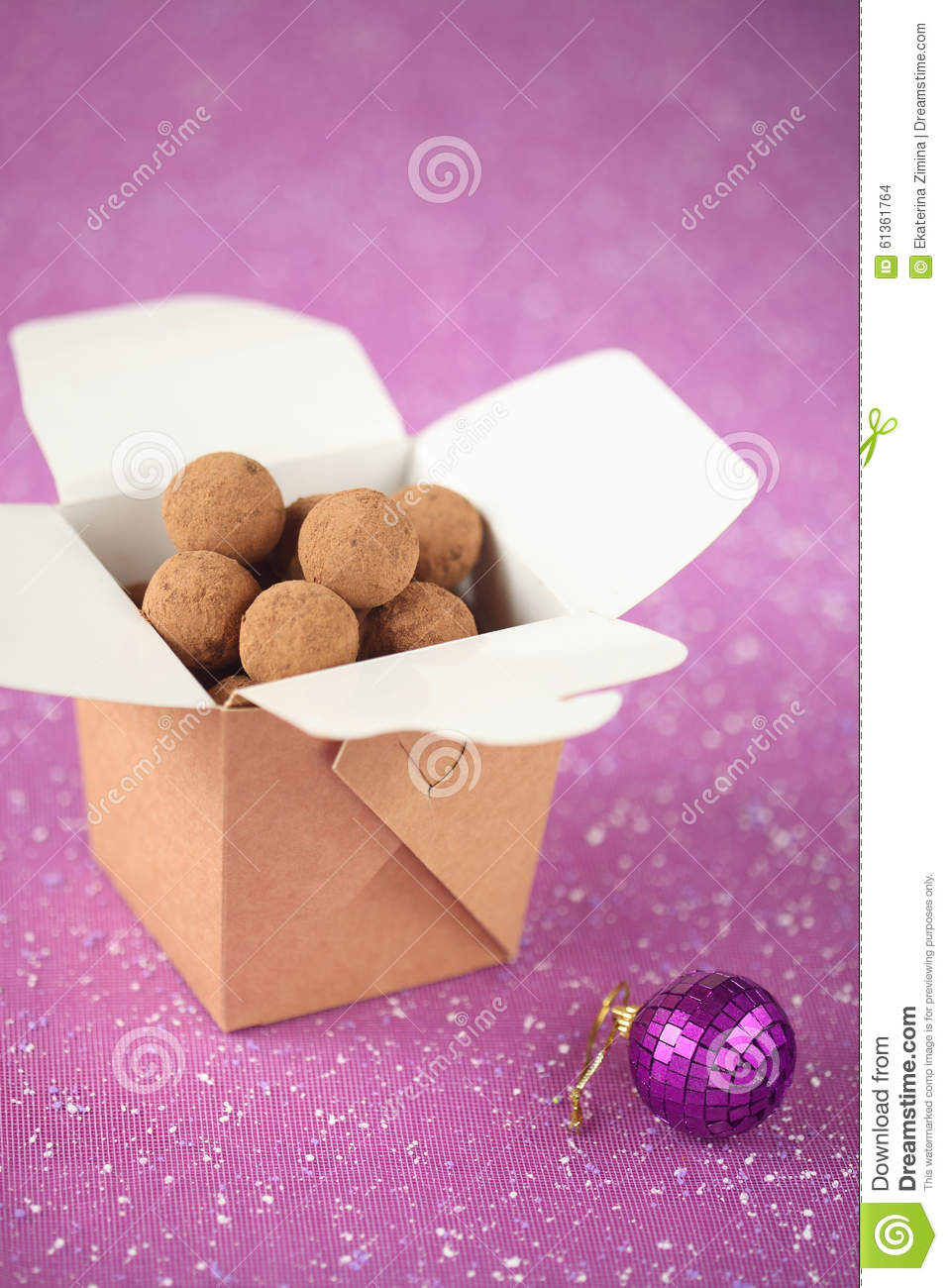 download chocolate truffles stock photo image of christmas plural 61361764 - Plural Of Christmas