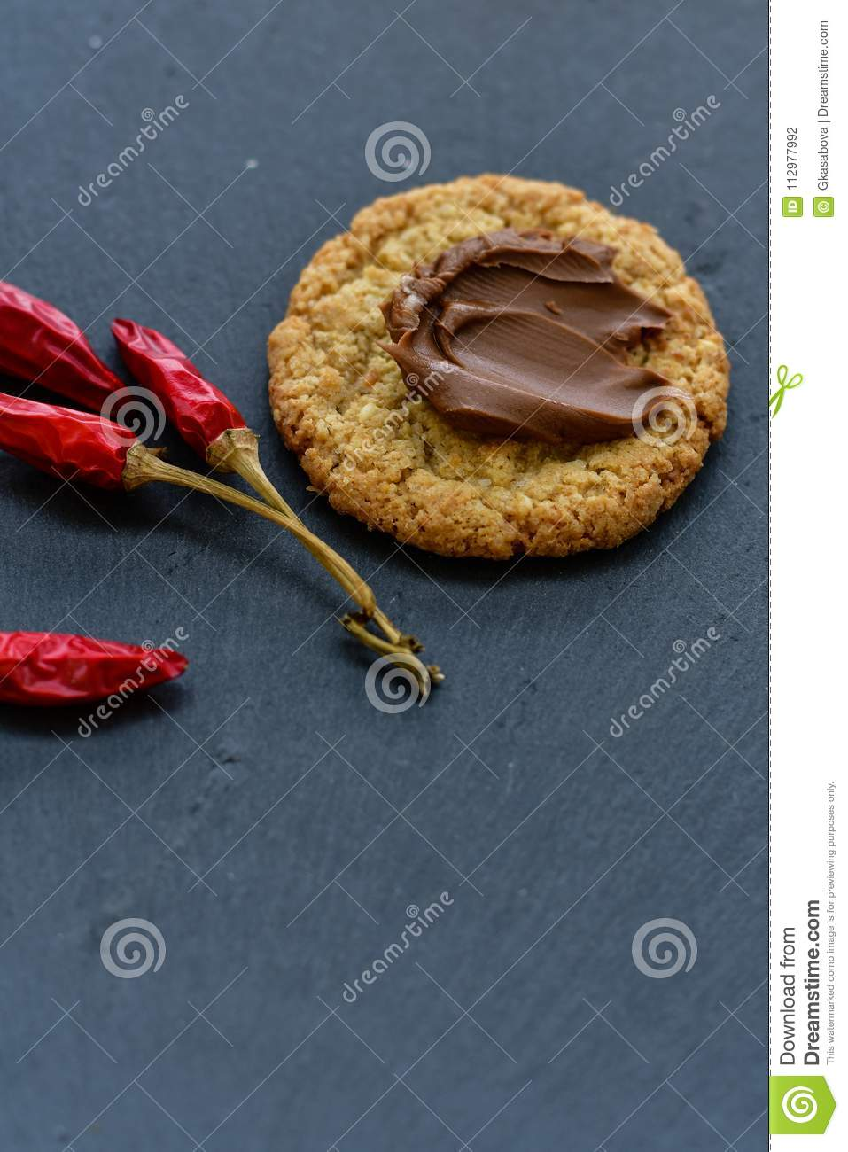 Cookies and red hot chili peppers
