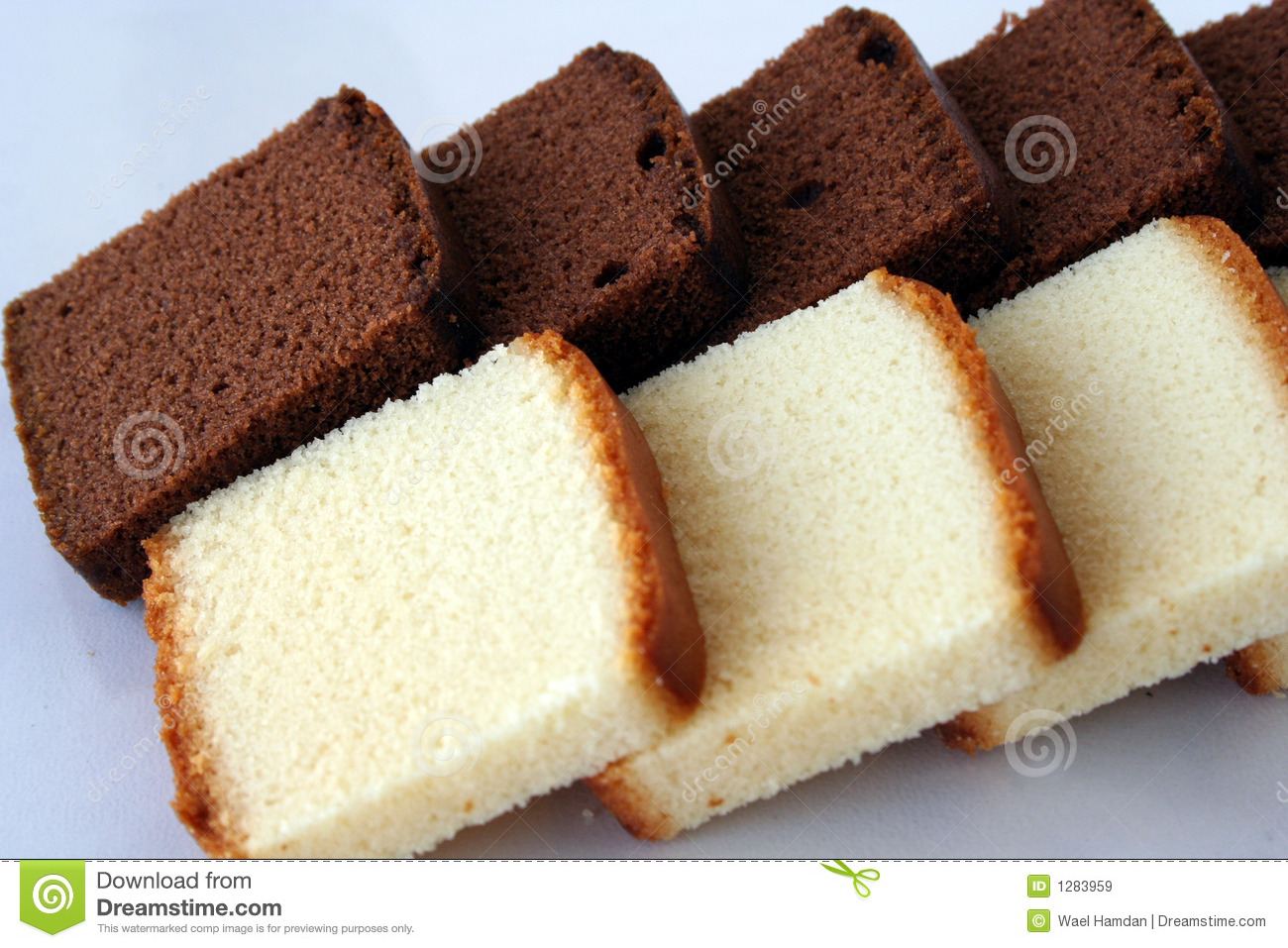 Chocolate & vanilla cake stock image. Image of brownie ...