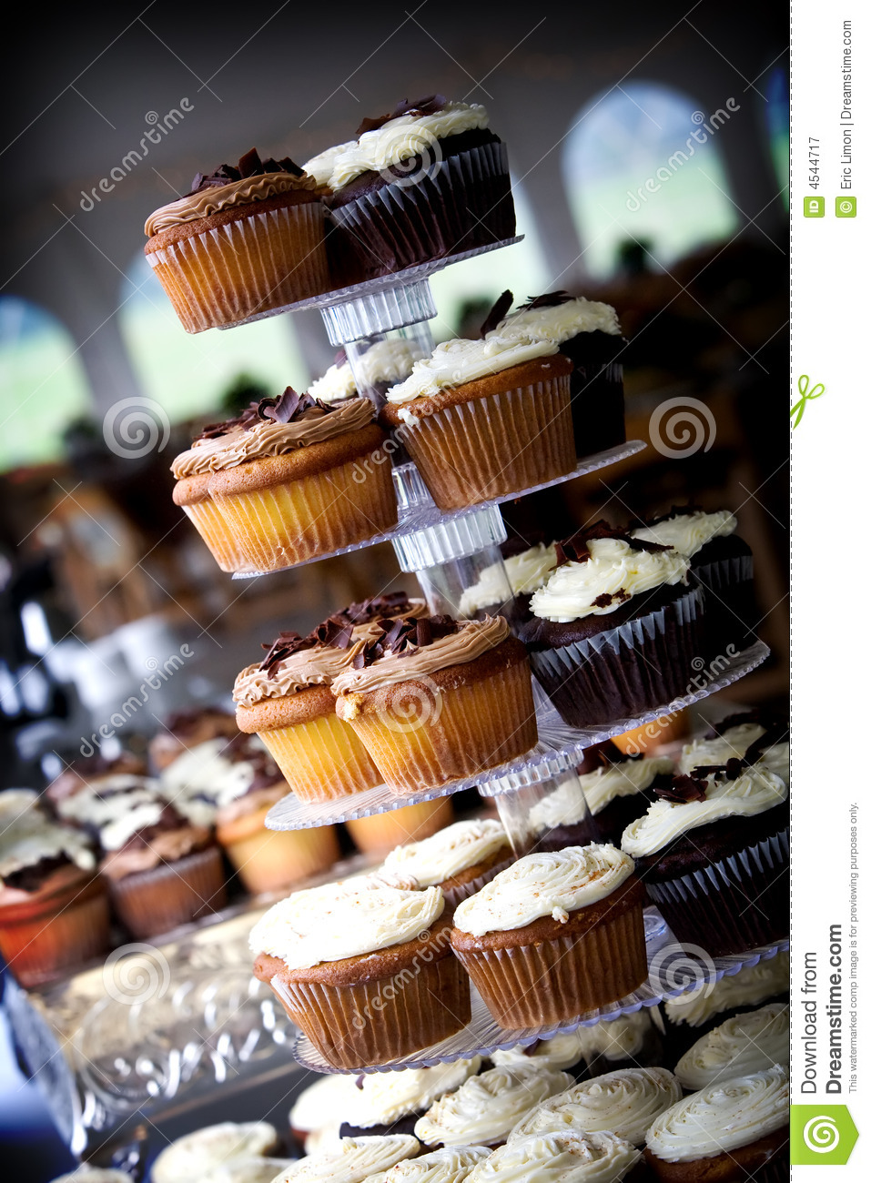 bunch of wedding cupcakes. Many people choose cupcakes over the ...