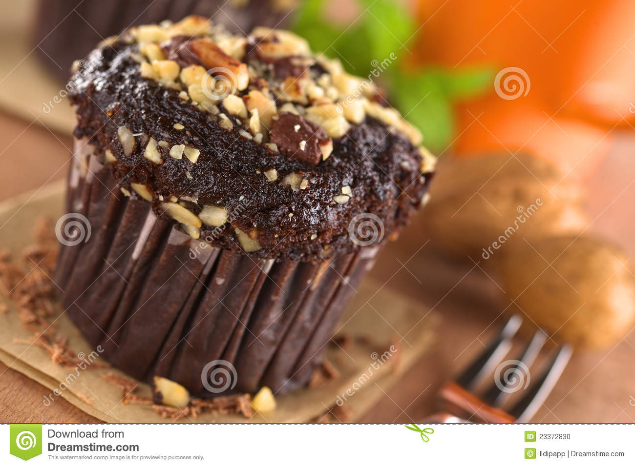 Chocolate-Walnut Muffin
