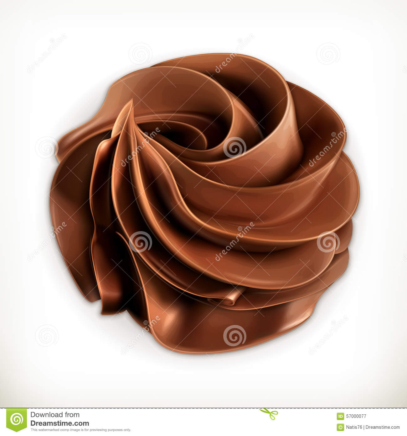 Chocolate Whipped Cream, Vector Icon Stock Vector - Image: 57000077