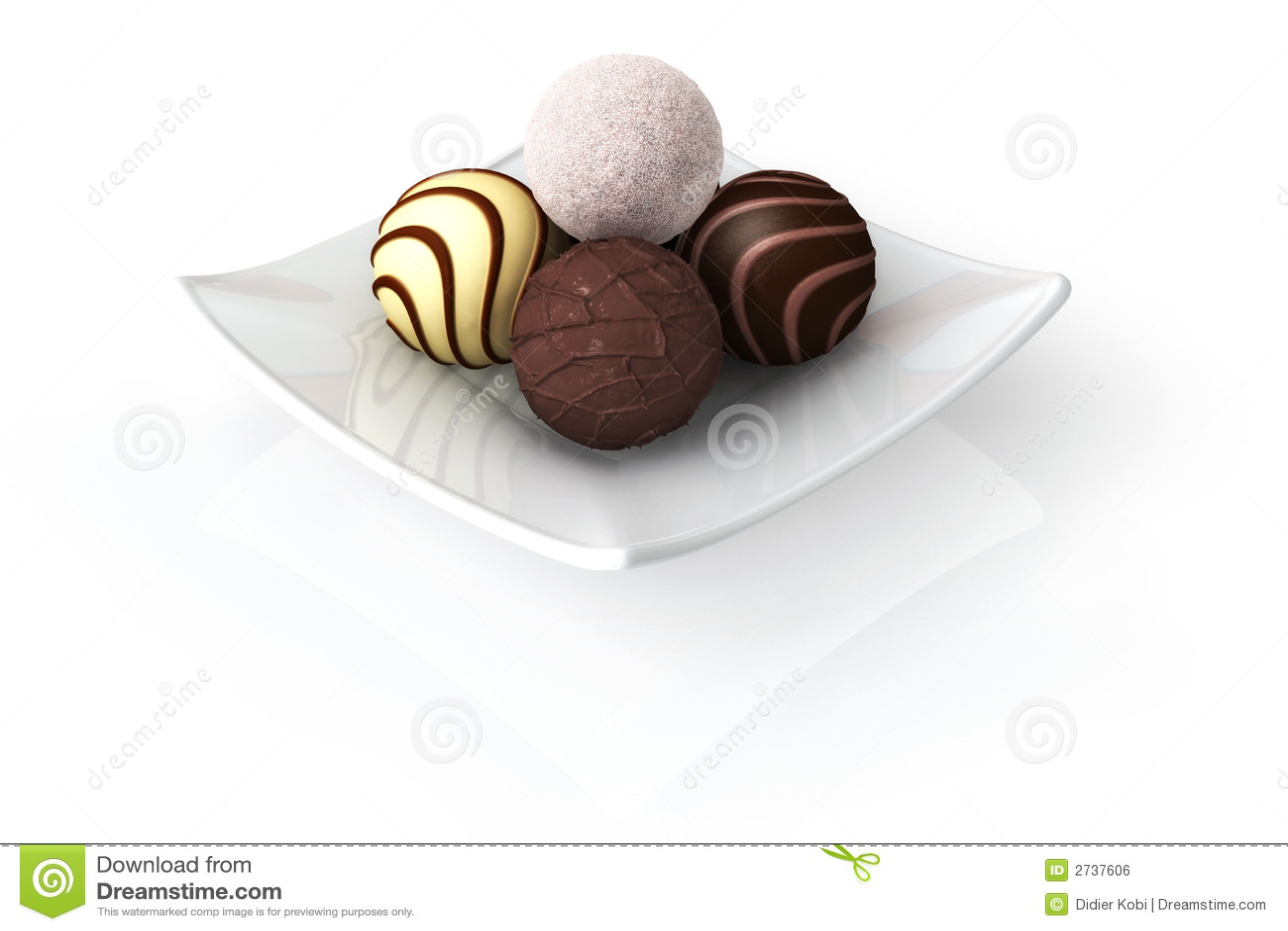Chocolate on White