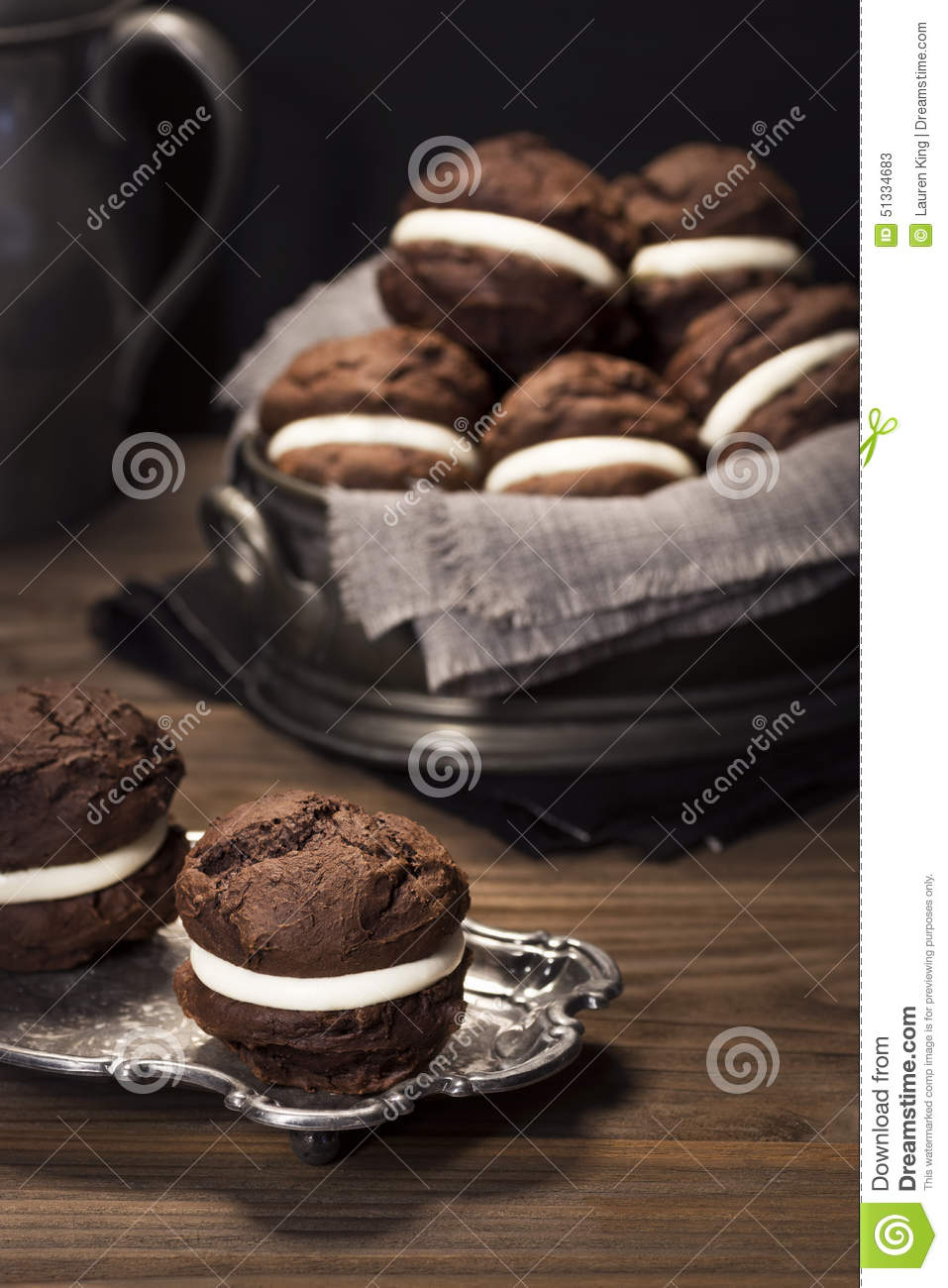 Chocolate Whoopie Pies or Moon Pies