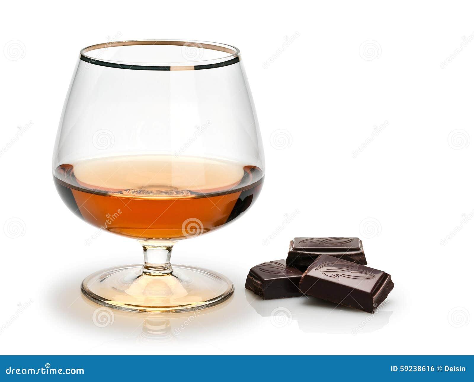 Download Chocolate Y Coñac En Un Vidrio Foto de archivo - Imagen de dulce, cierre: 59238616