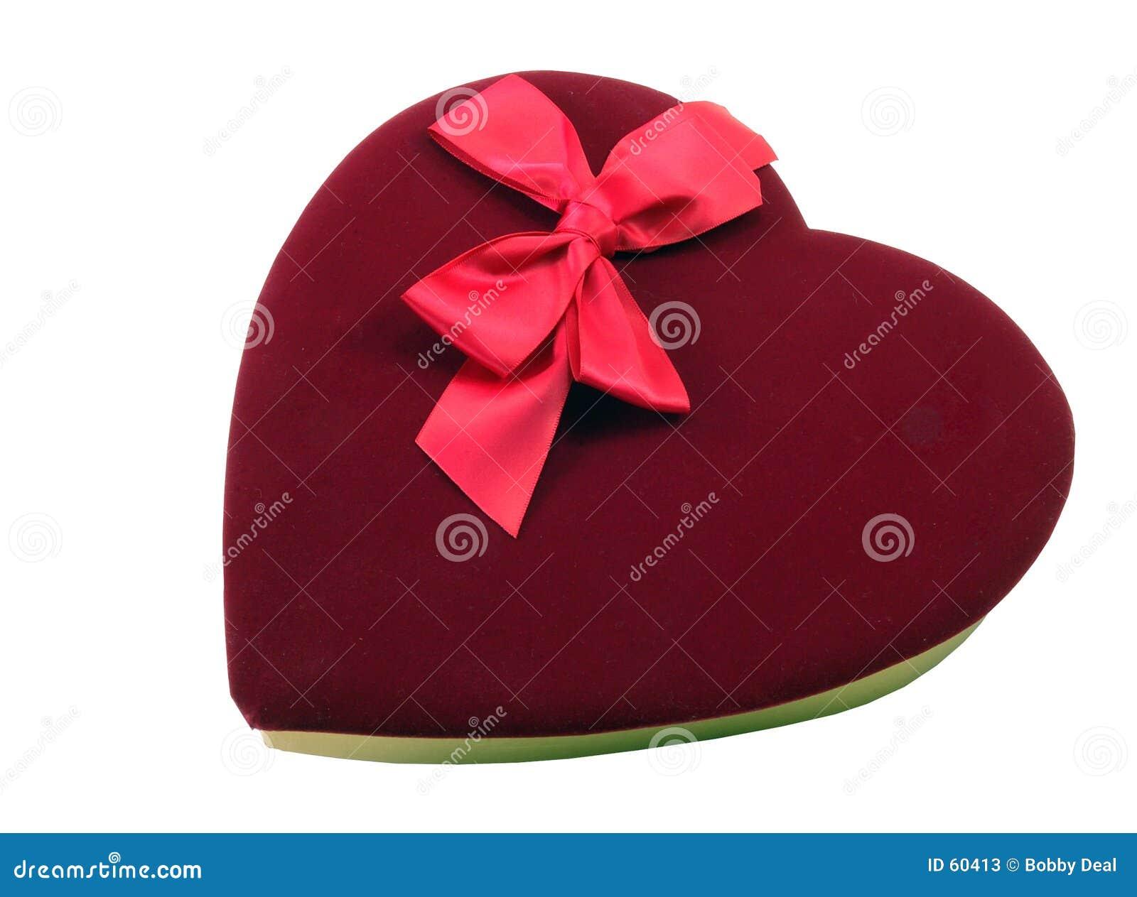 Chocolates de la tarjeta del día de San Valentín