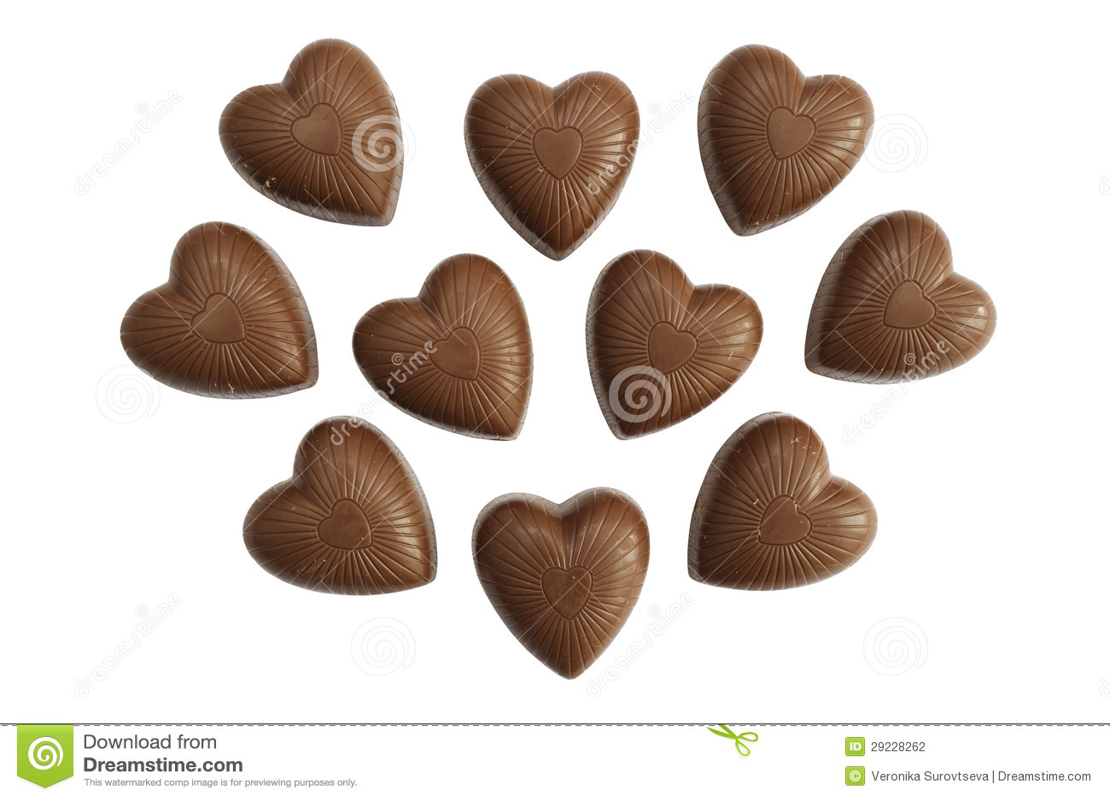 Download Chocolates do coração foto de stock. Imagem de delicioso - 29228262