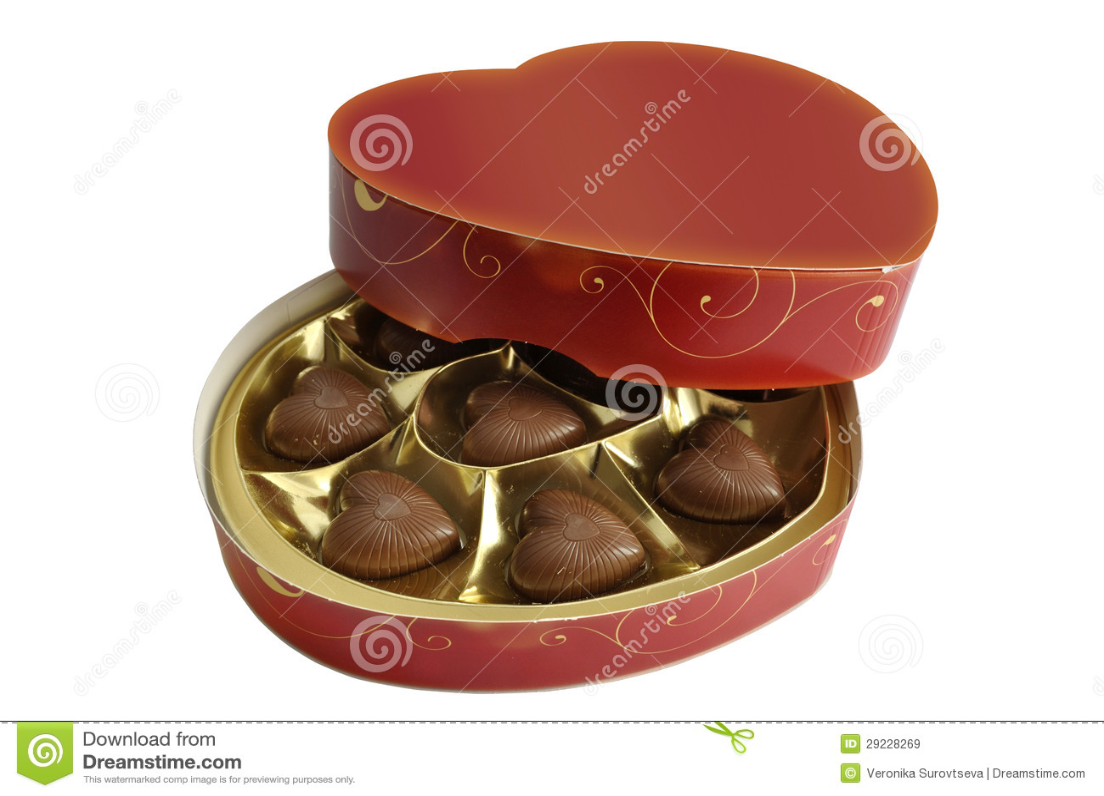 Download Chocolates do coração imagem de stock. Imagem de feriado - 29228269