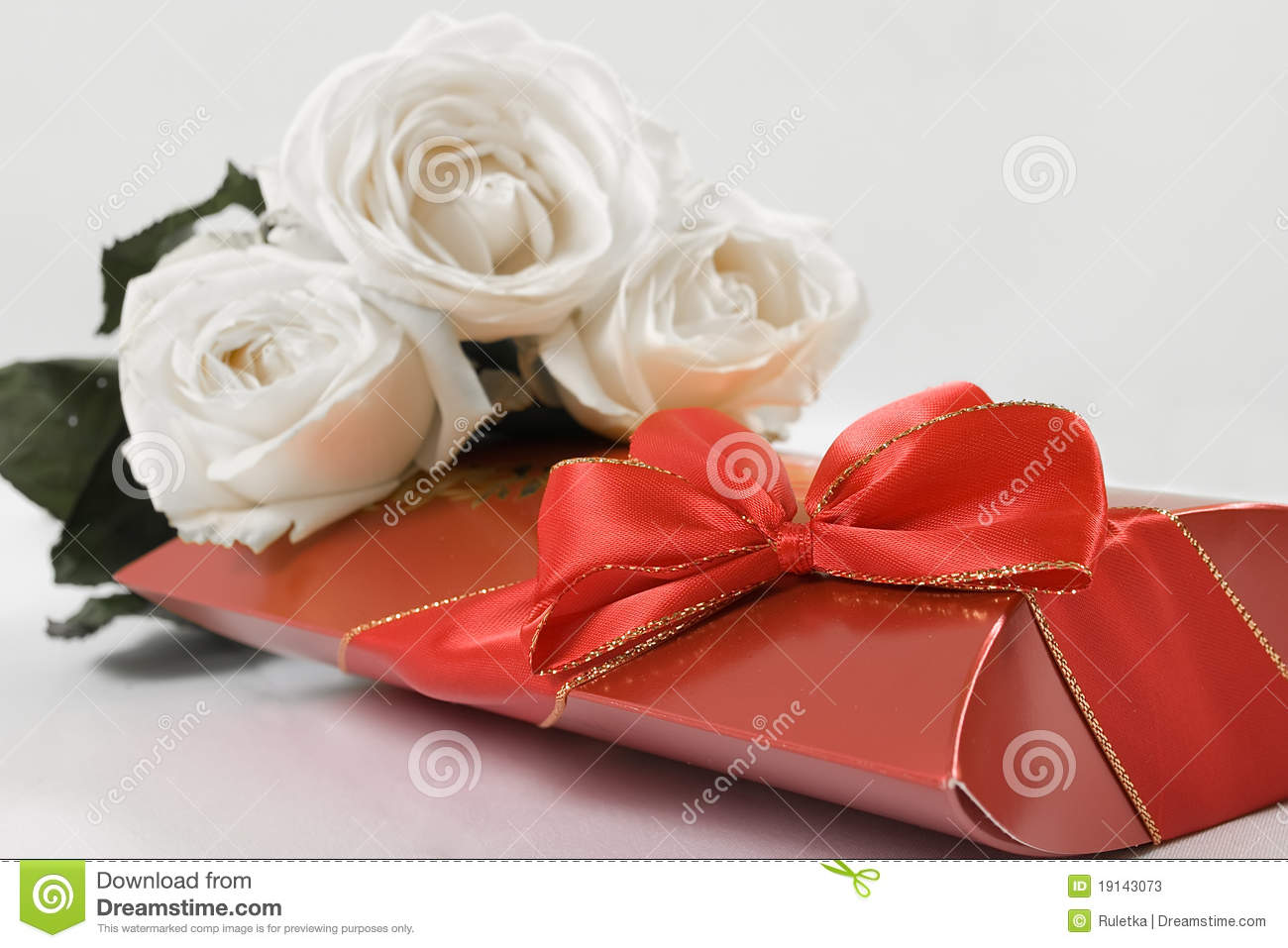 Chocolates And Flowers Stock s Image