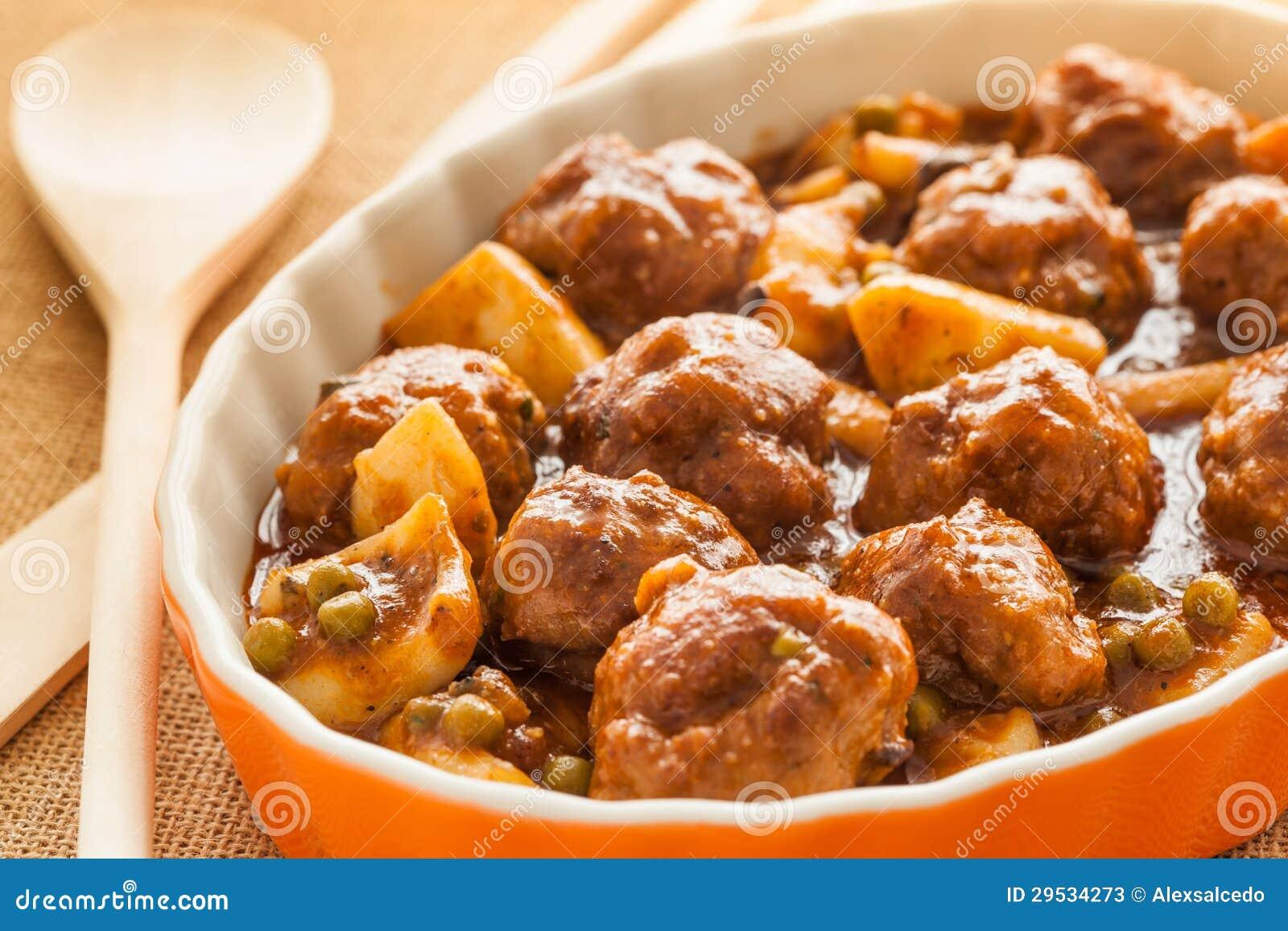 Chocos com meatballs