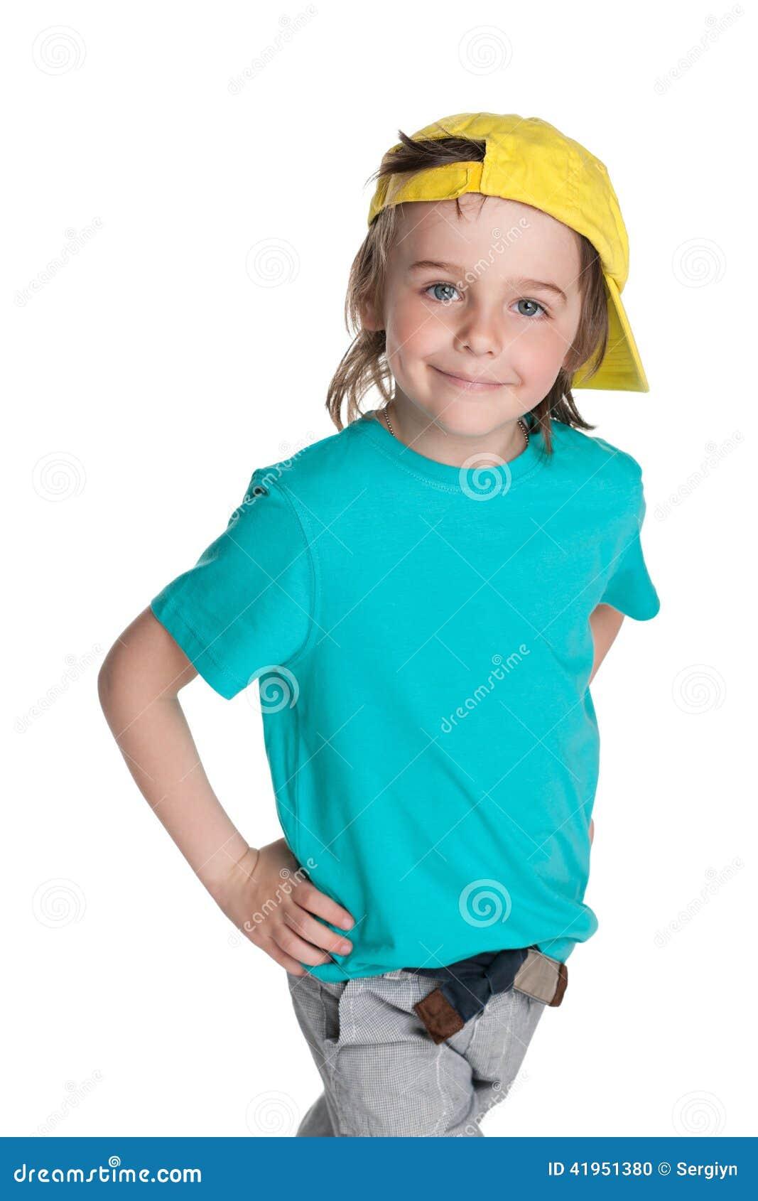 Chodząca mody chłopiec