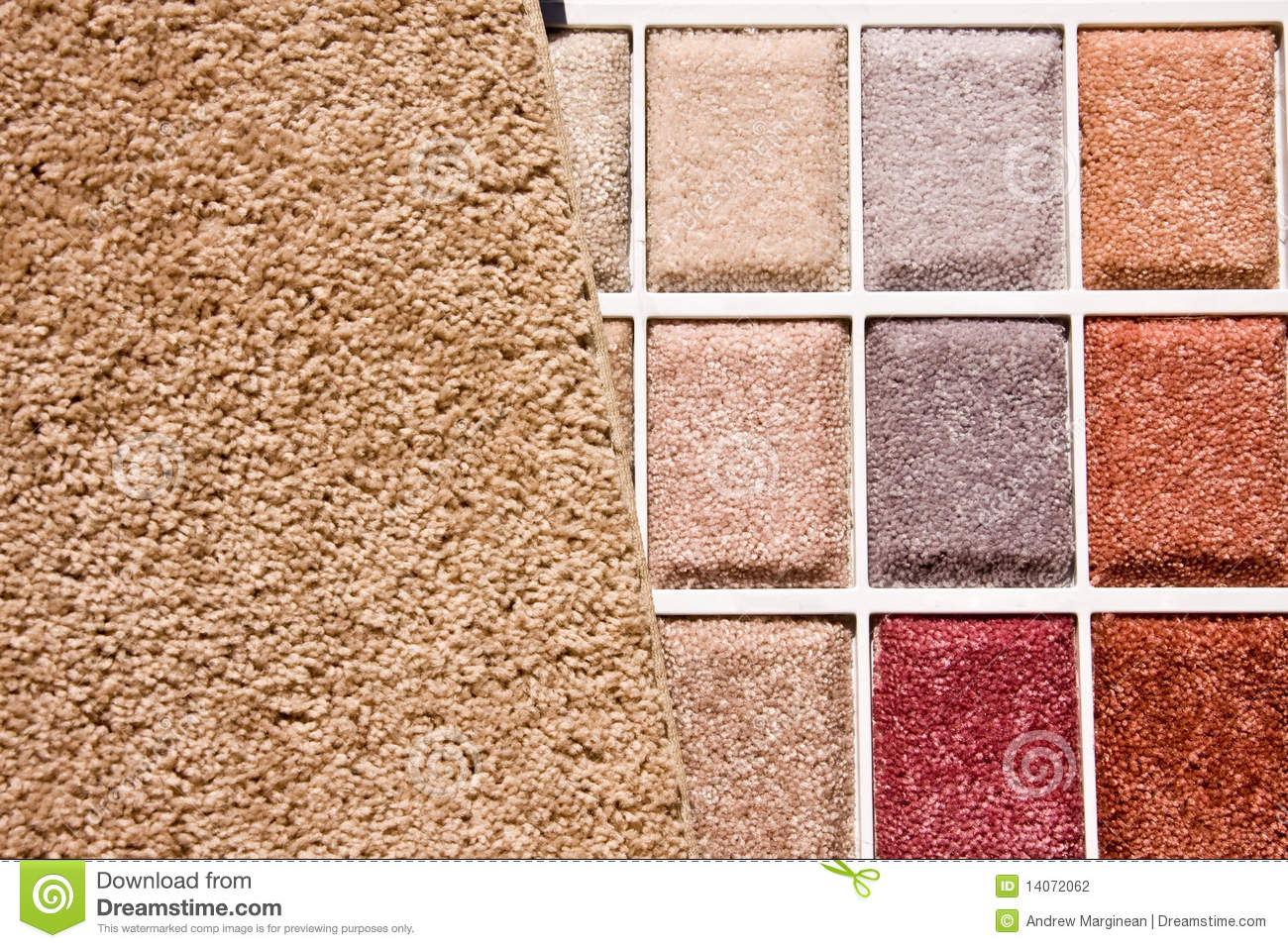 Choice Of Carpet Colors Stock Photography Image 14072062