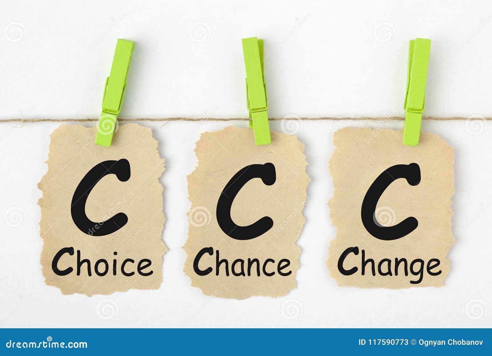 Choice Chance Change CCC