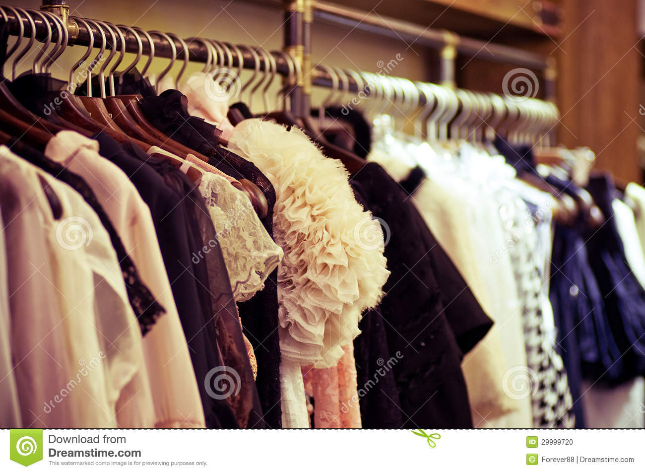 Choice of fashion clothes of different colors