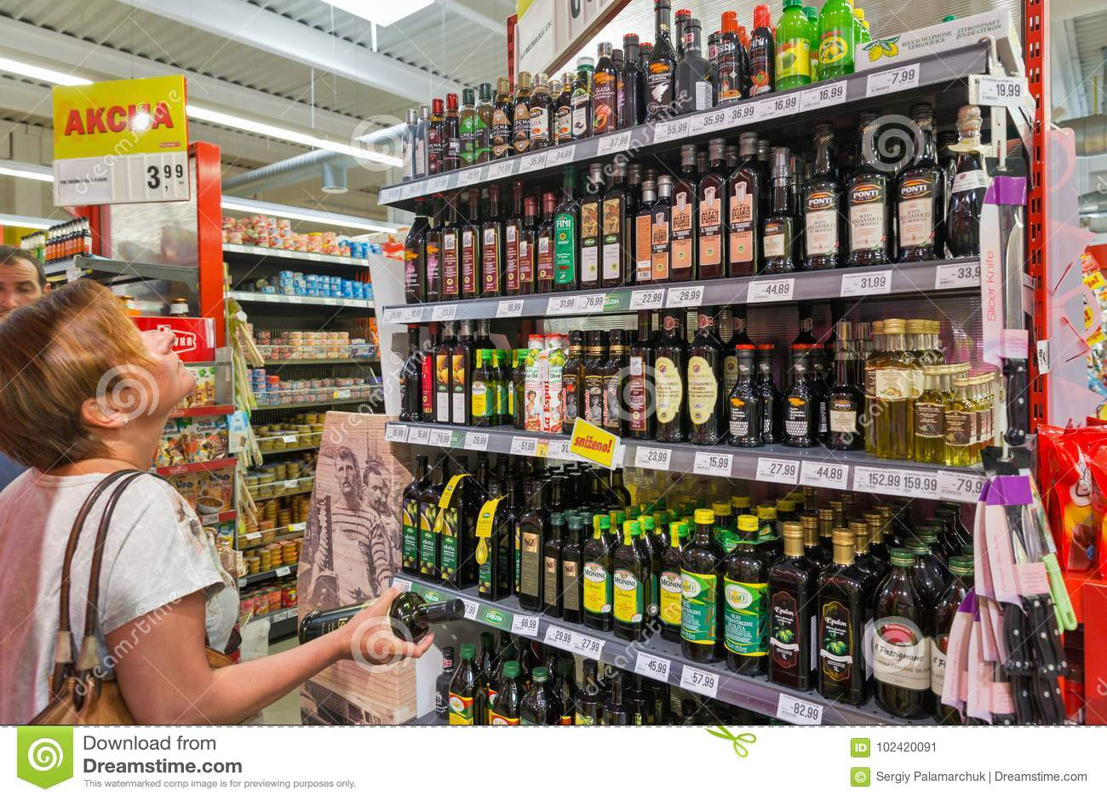 Choice Of Olive Oil In The Plodine Supermarket  Novigrad