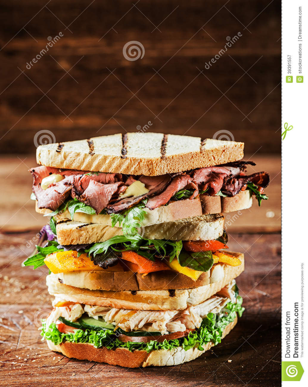 Choice of tasty toasted sandwiches