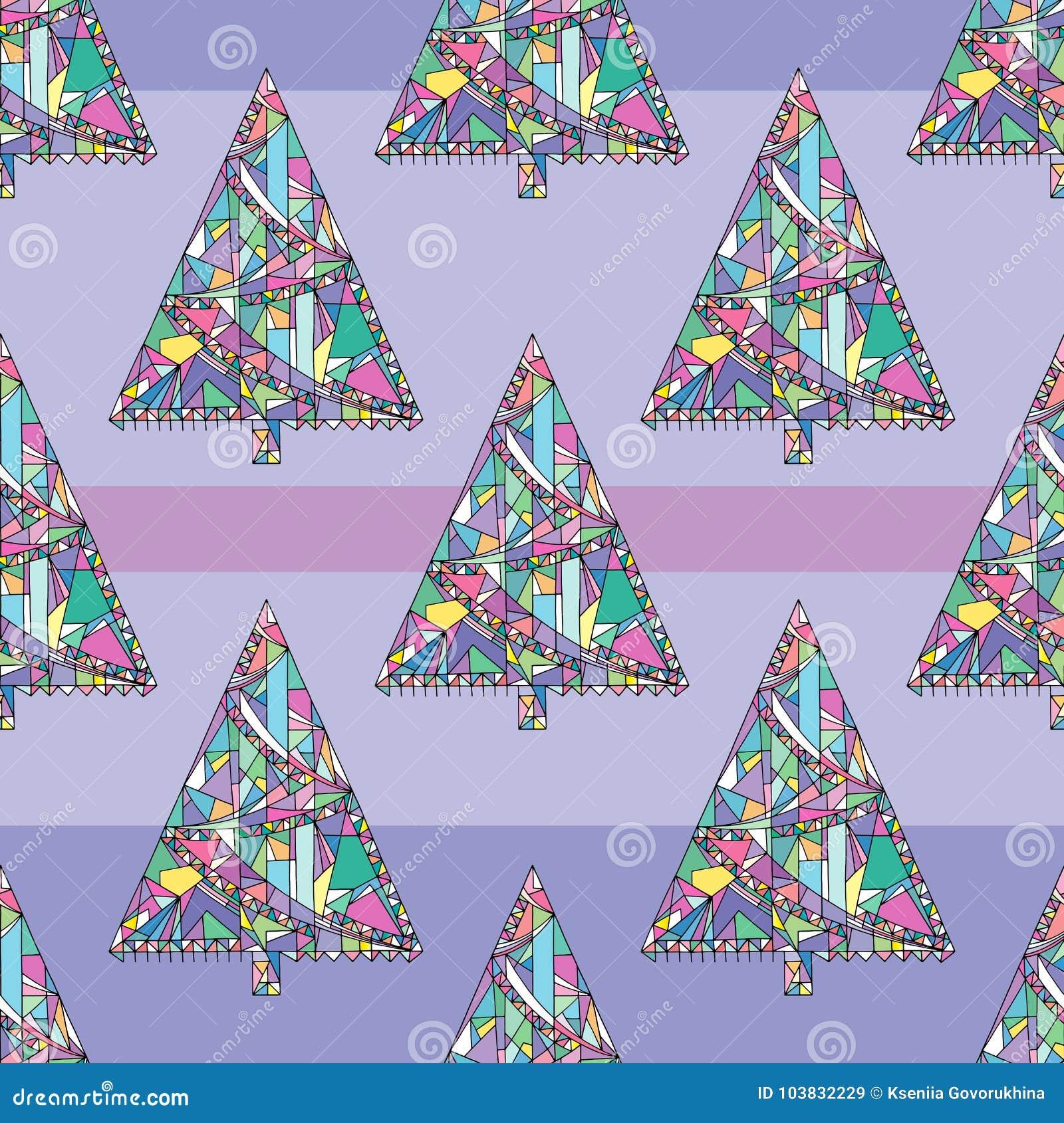 Choinka wzór Abstrakta Xmas bezszwowy tło Zima wakacji wektorowa tekstura dla tapety, opakunkowy papier