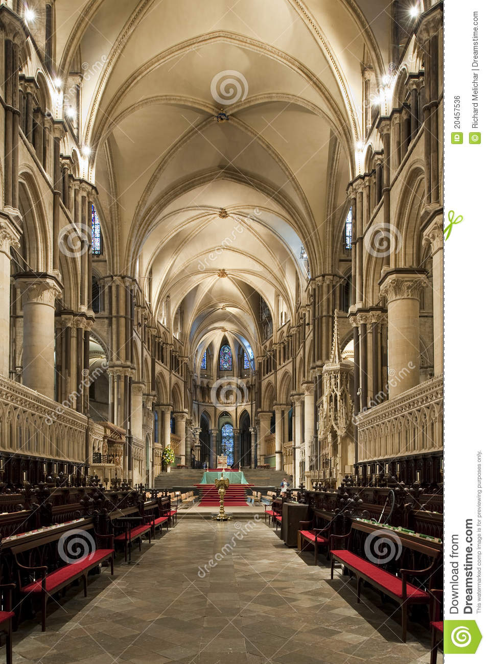 Choir Of A Beautiful Gothic Canterbury Cathedrall Royalty