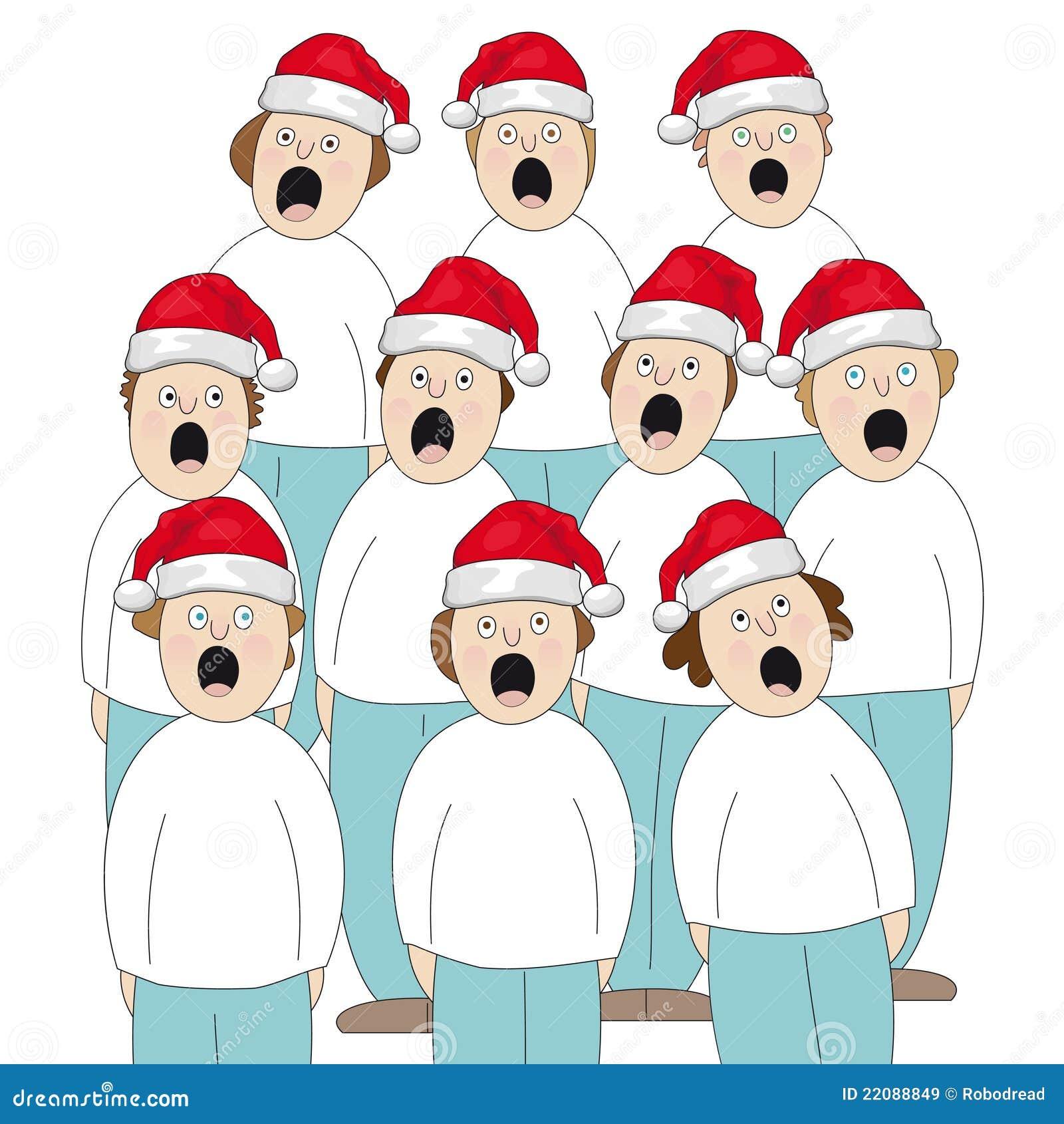 Christmas Choir.Choir Christmas Stock Vector Illustration Of Mouth Hold