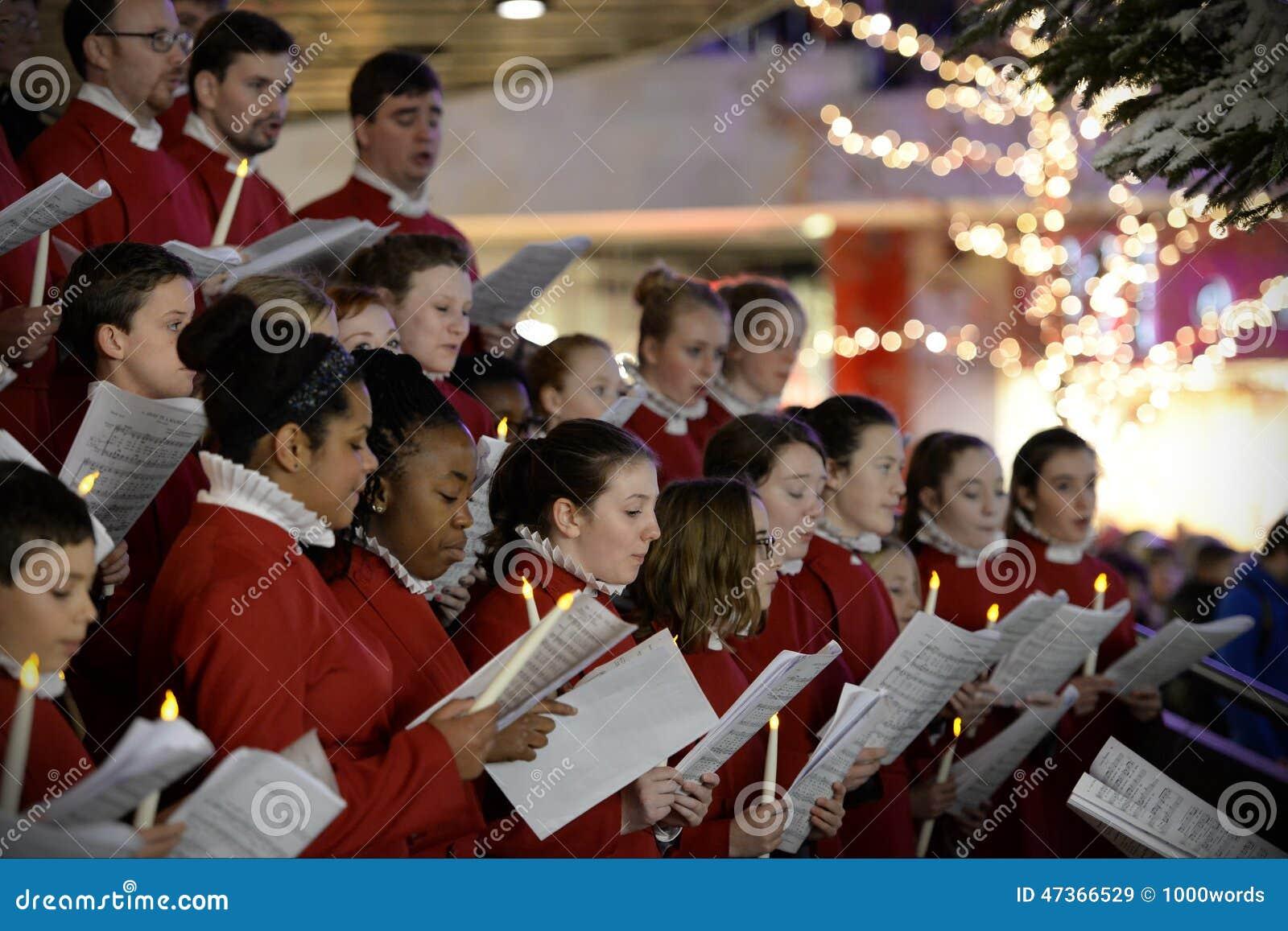 Choir Perform Christmas Carols