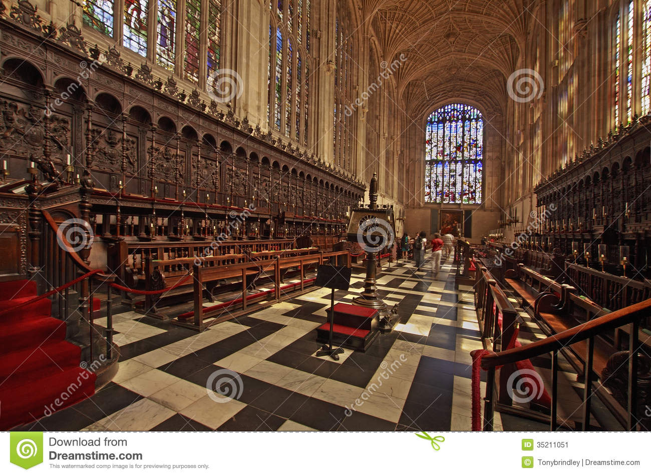 Choir Stalls Kings College Chapel Stock Image Image Of