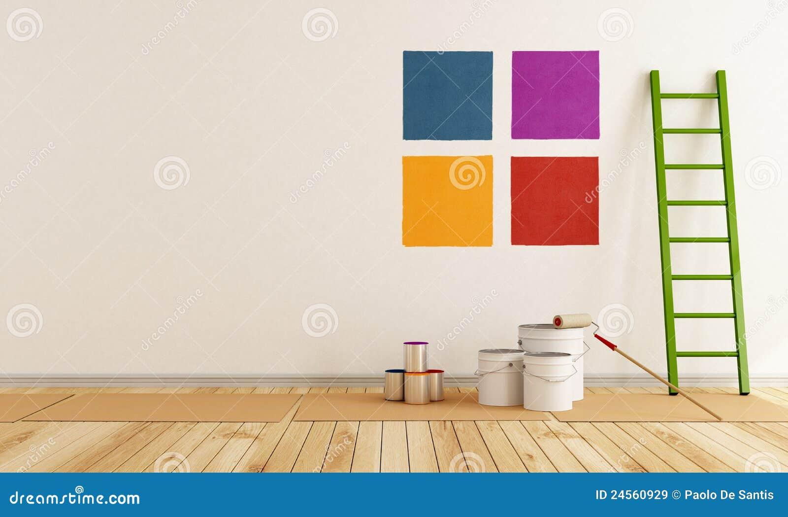 Choisissez l 39 chantillon de couleur pour peindre le mur images libres de - Echantillon de peinture pour la maison ...