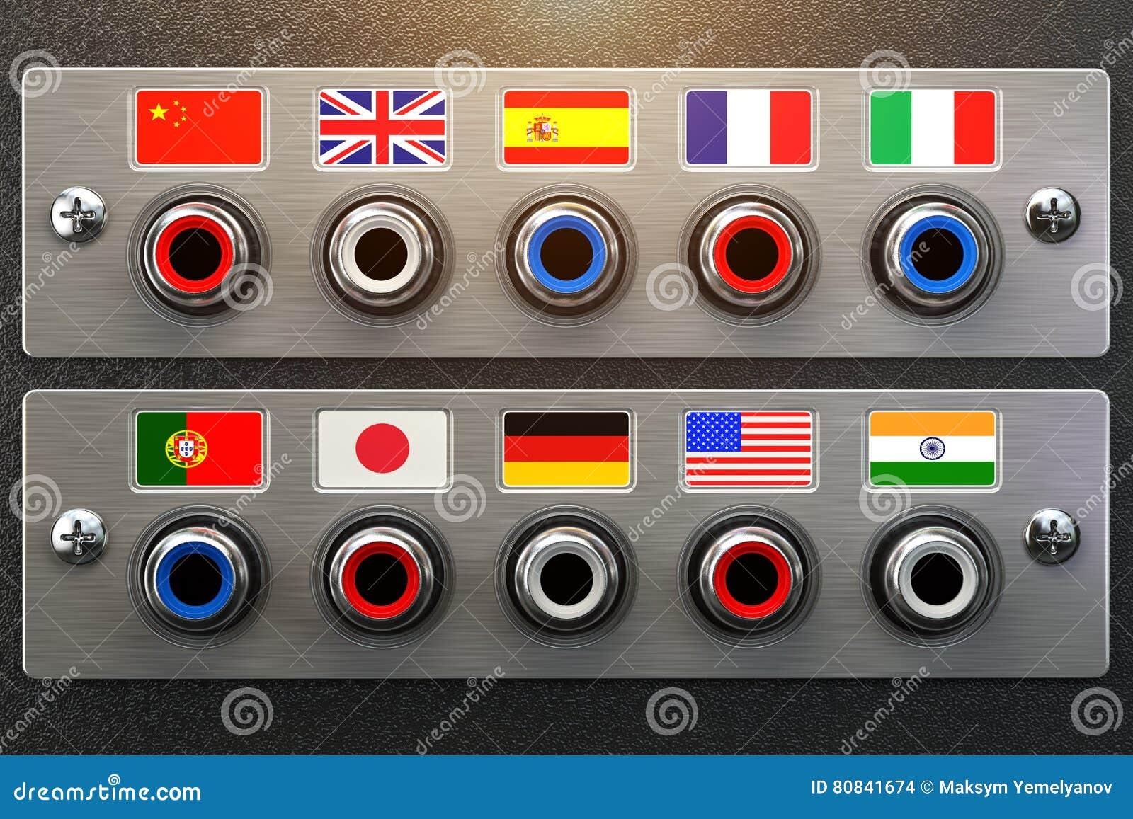 Choisissez le langage En apprenant, traduisez les langues ou le guide audio Co