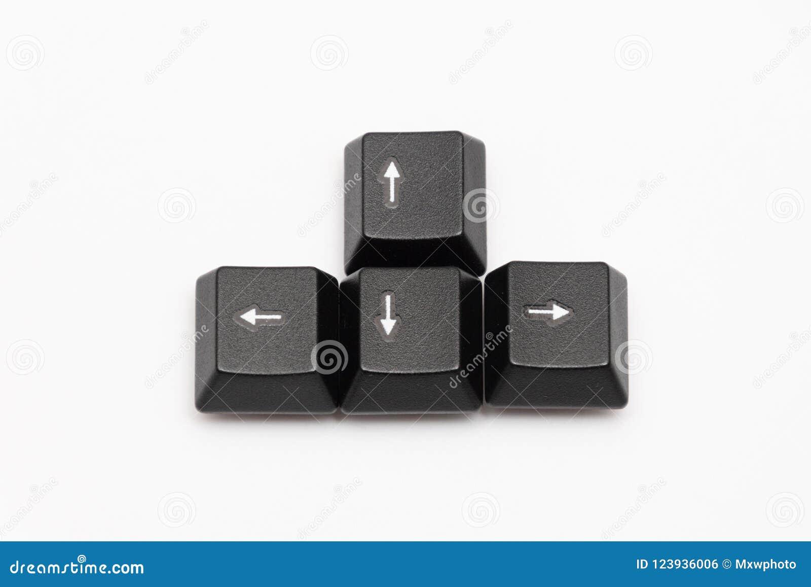 Choisissez les clés noires du clavier avec différentes touches de déplacement du curseur de lettres