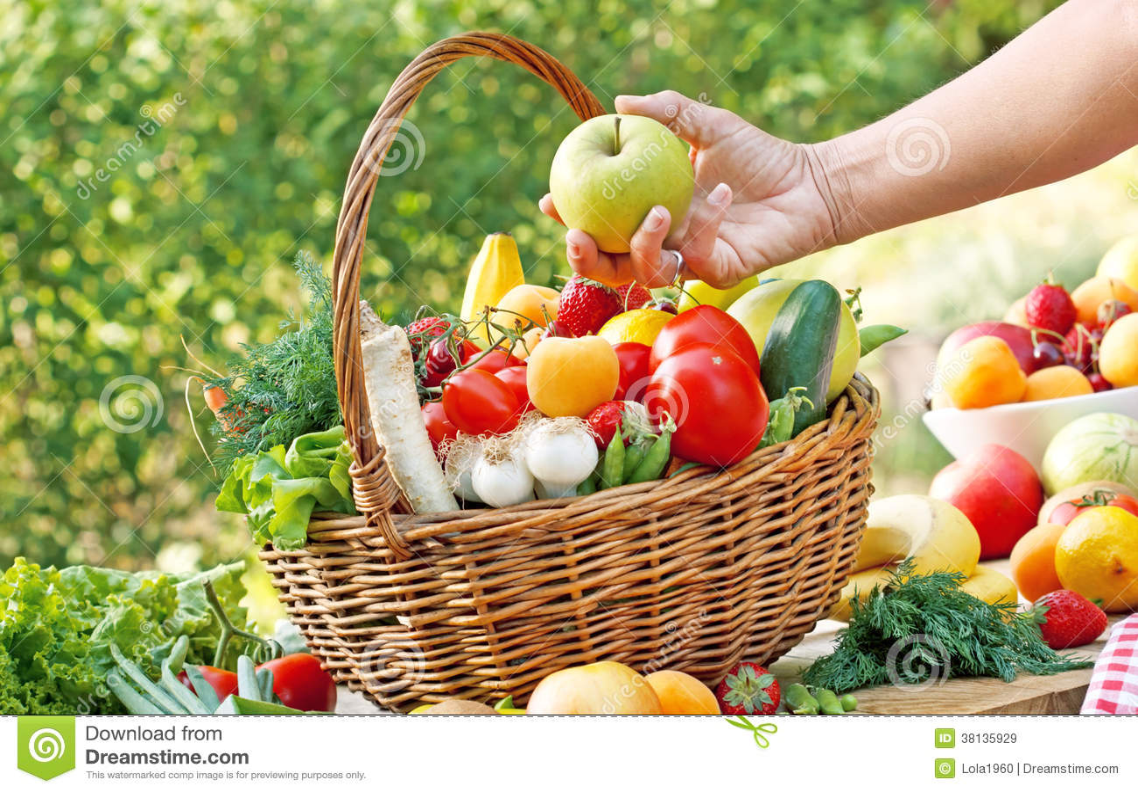 Choisissez les fruits et légumes frais et organiques droits