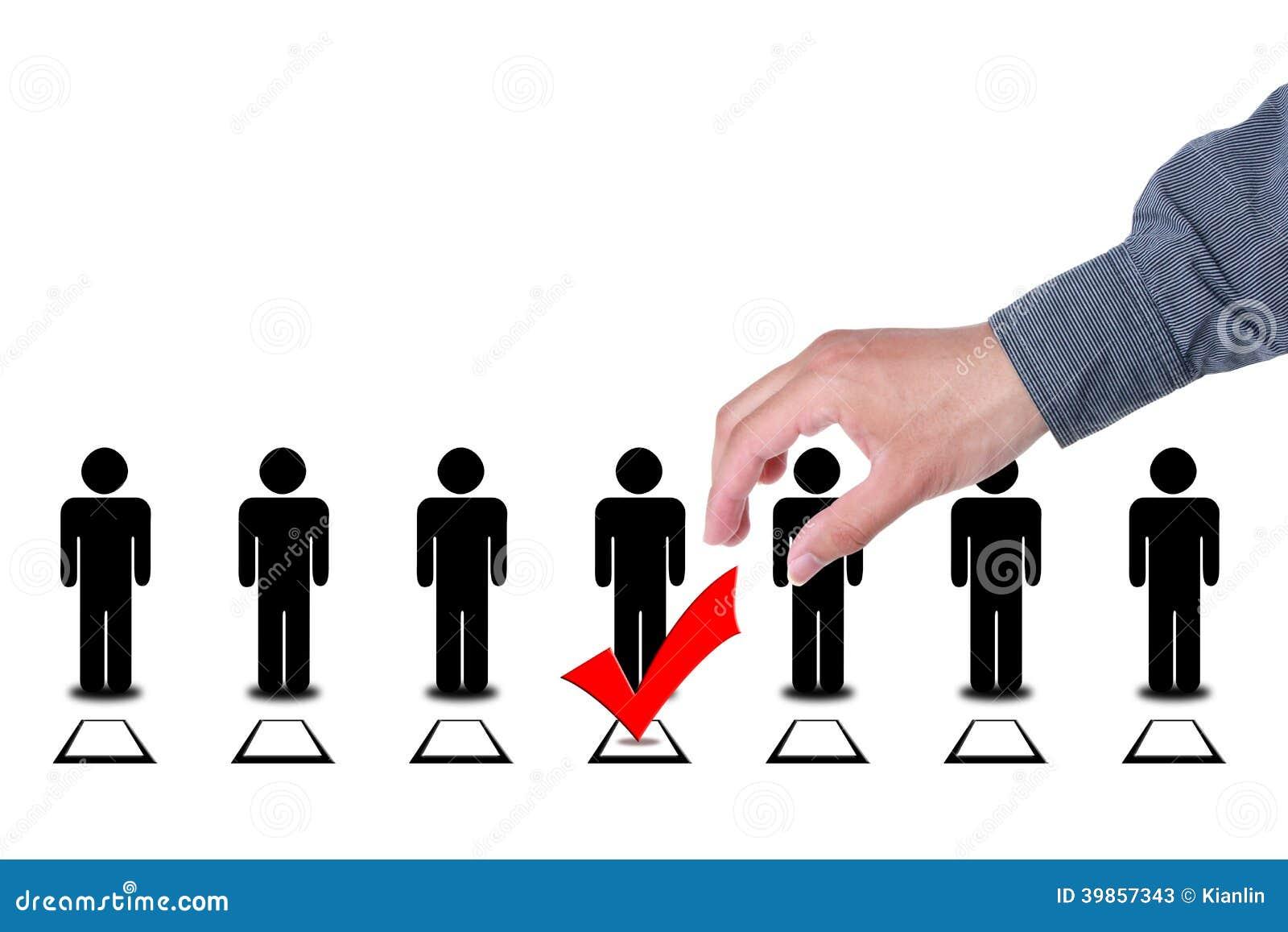 Choisissez les personnes dans des boîtes de vote d élection de sélection