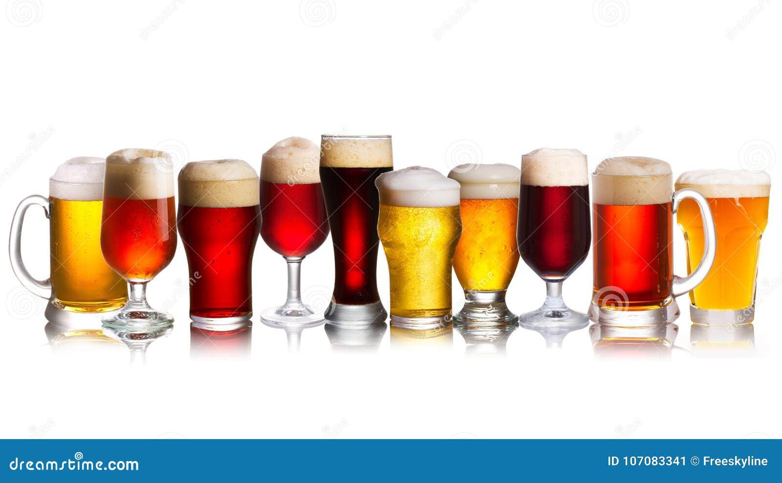 Choix de diverses sortes de bières Sélection de divers types de bière, bière anglaise