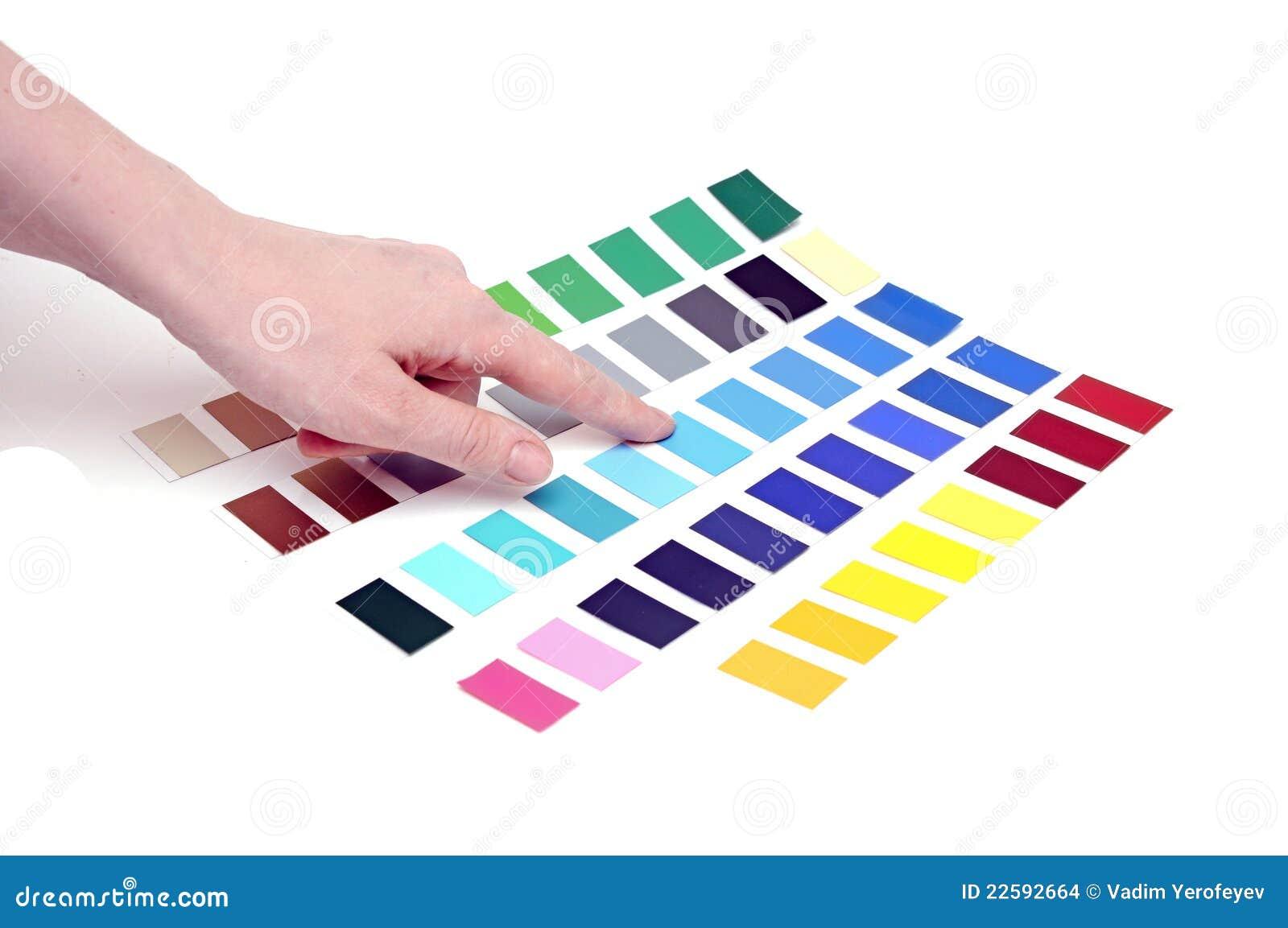 choix de la couleur de l'échelle de couleurs photo stock - image du