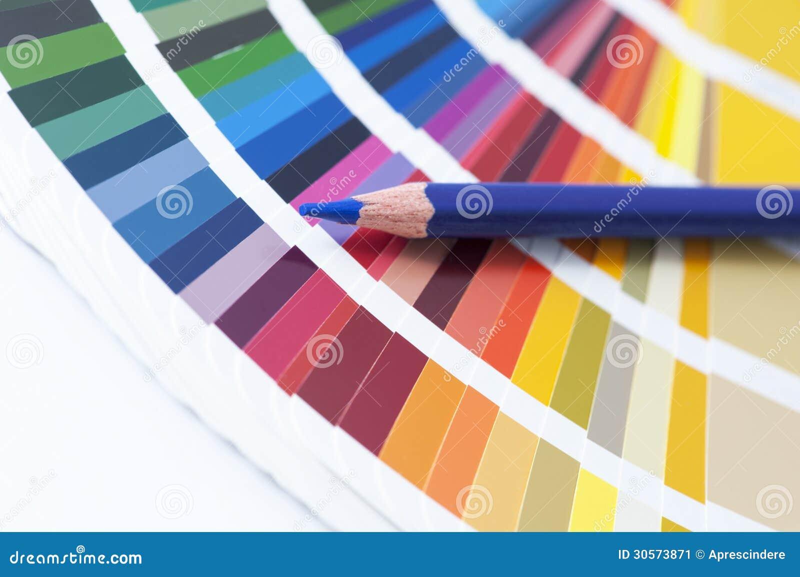 choix de la couleur du spectre image stock - image du livre