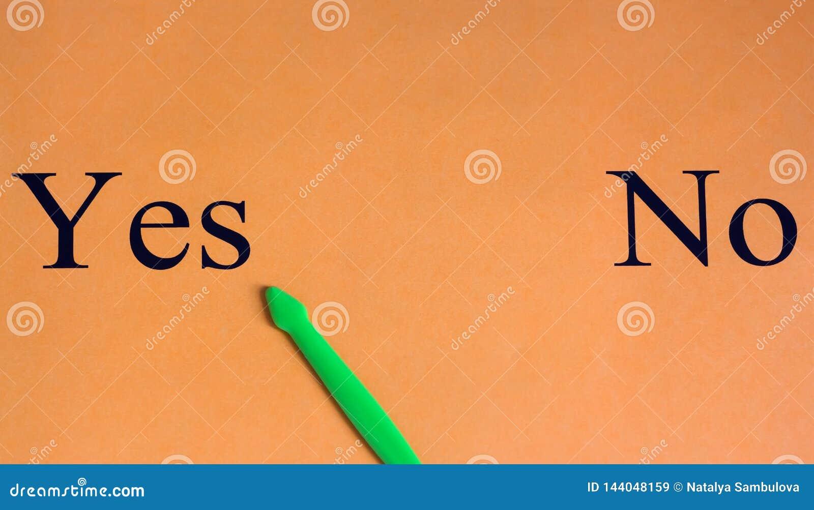 Choix difficile aucun questionnaire oui Mots sur un fond orange motivation Réussite La flèche verte choisit oui