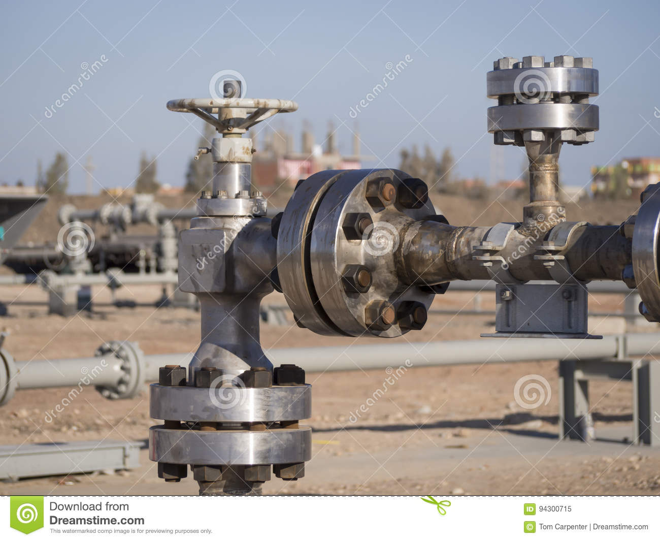Choke Valve at Gas Well Head