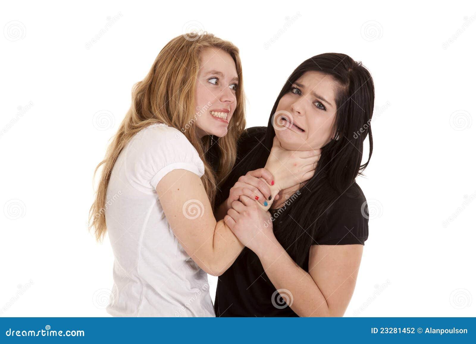 Teen girl chokes 2