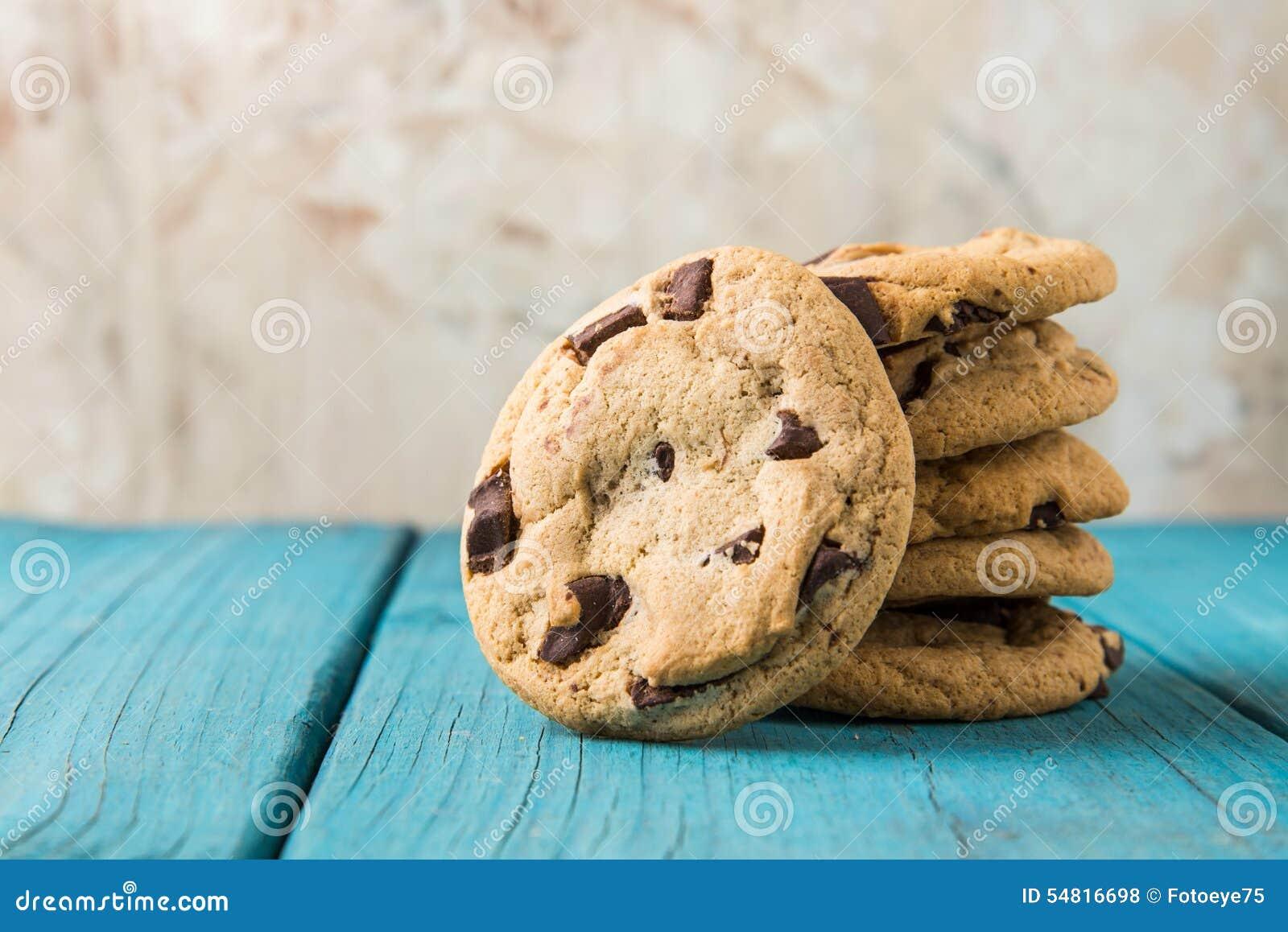 Choklad Chip Cookies på blåtttabellen
